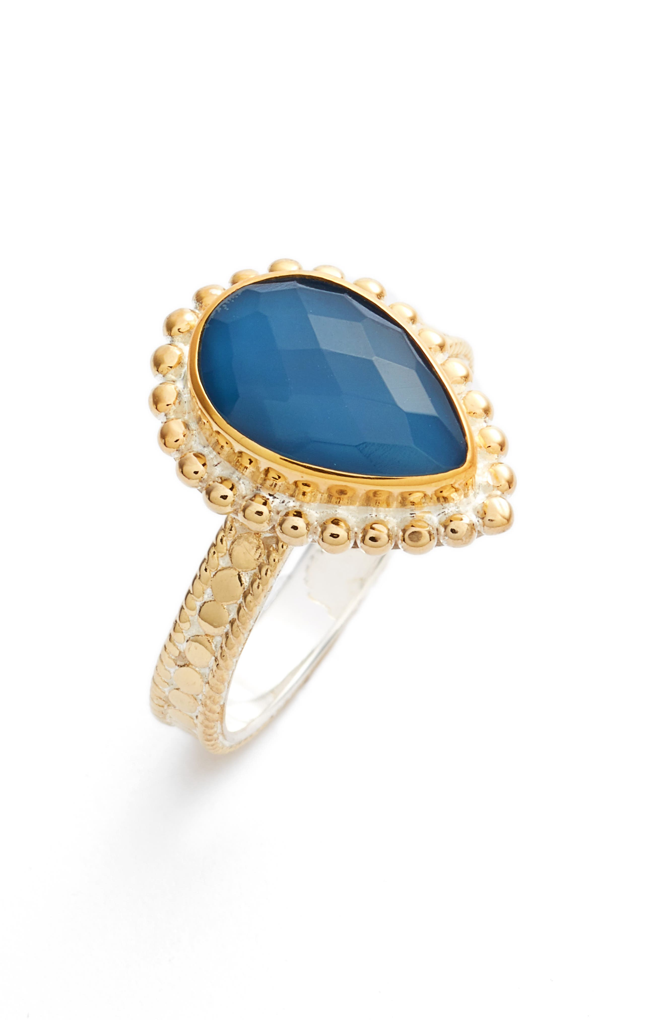Anna Beck Blue Quartz Teardrop Ring