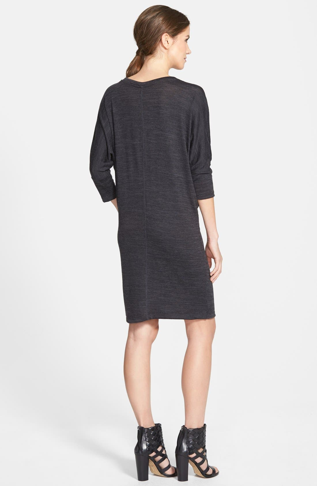 Alternate Image 2  - Bobeau Three Quarter Dolman Sleeve Sweater Dress