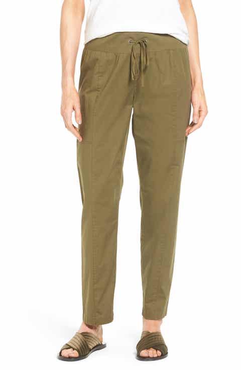 Eileen Fisher Drawstring Ankle Pants (Regular   Petite)