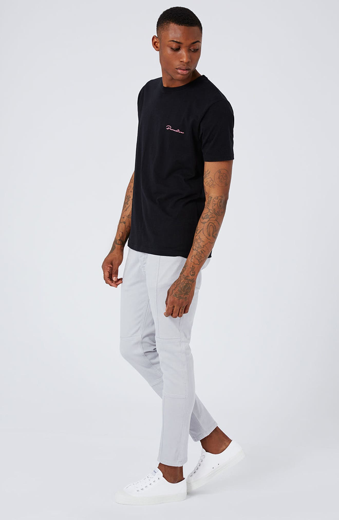 Alternate Image 2  - Topman Paneled Stretch Skinny Fit Jeans