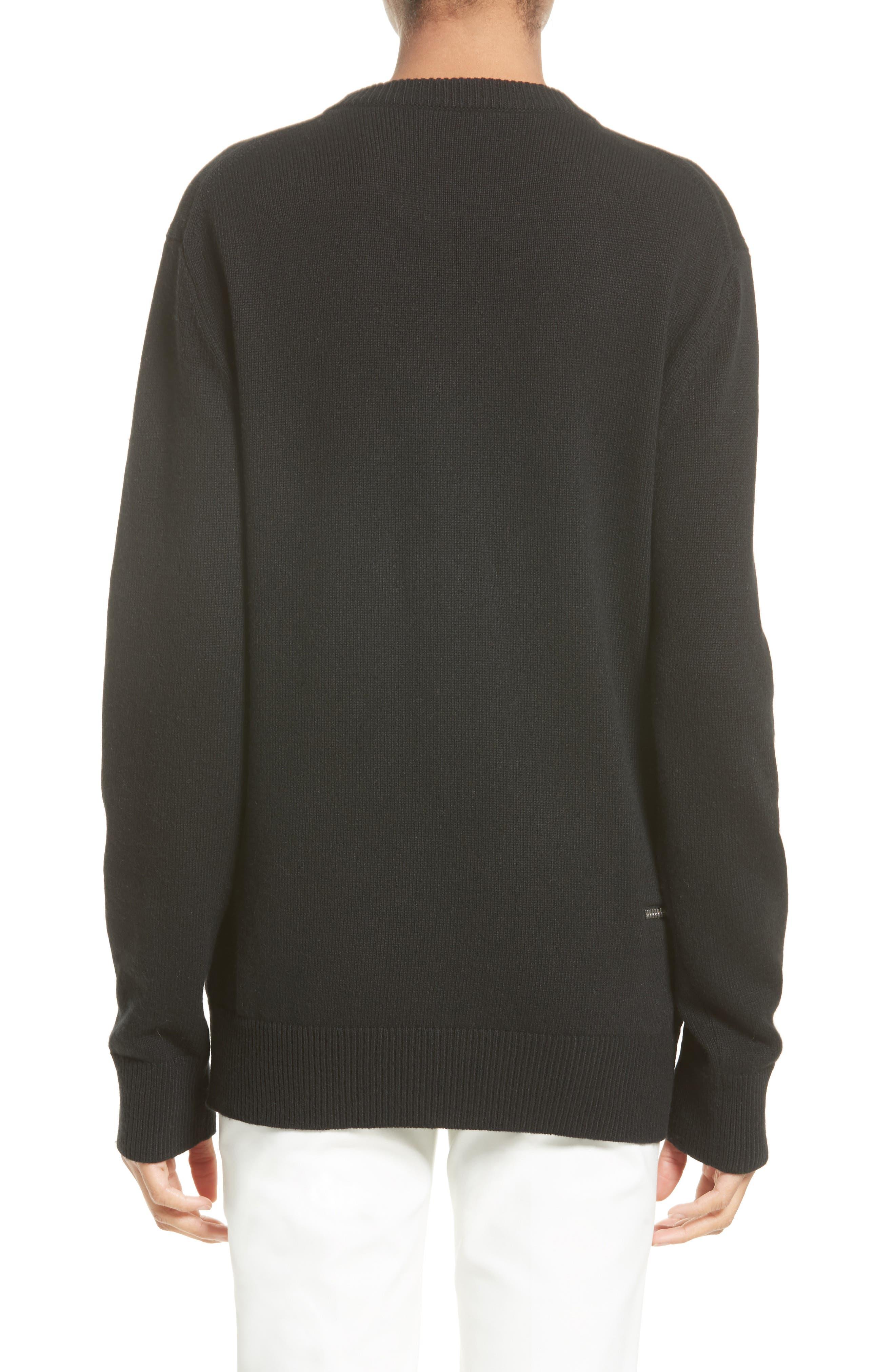 Alternate Image 2  - Michael Kors Zip Detail Cashmere & Cotton Sweater