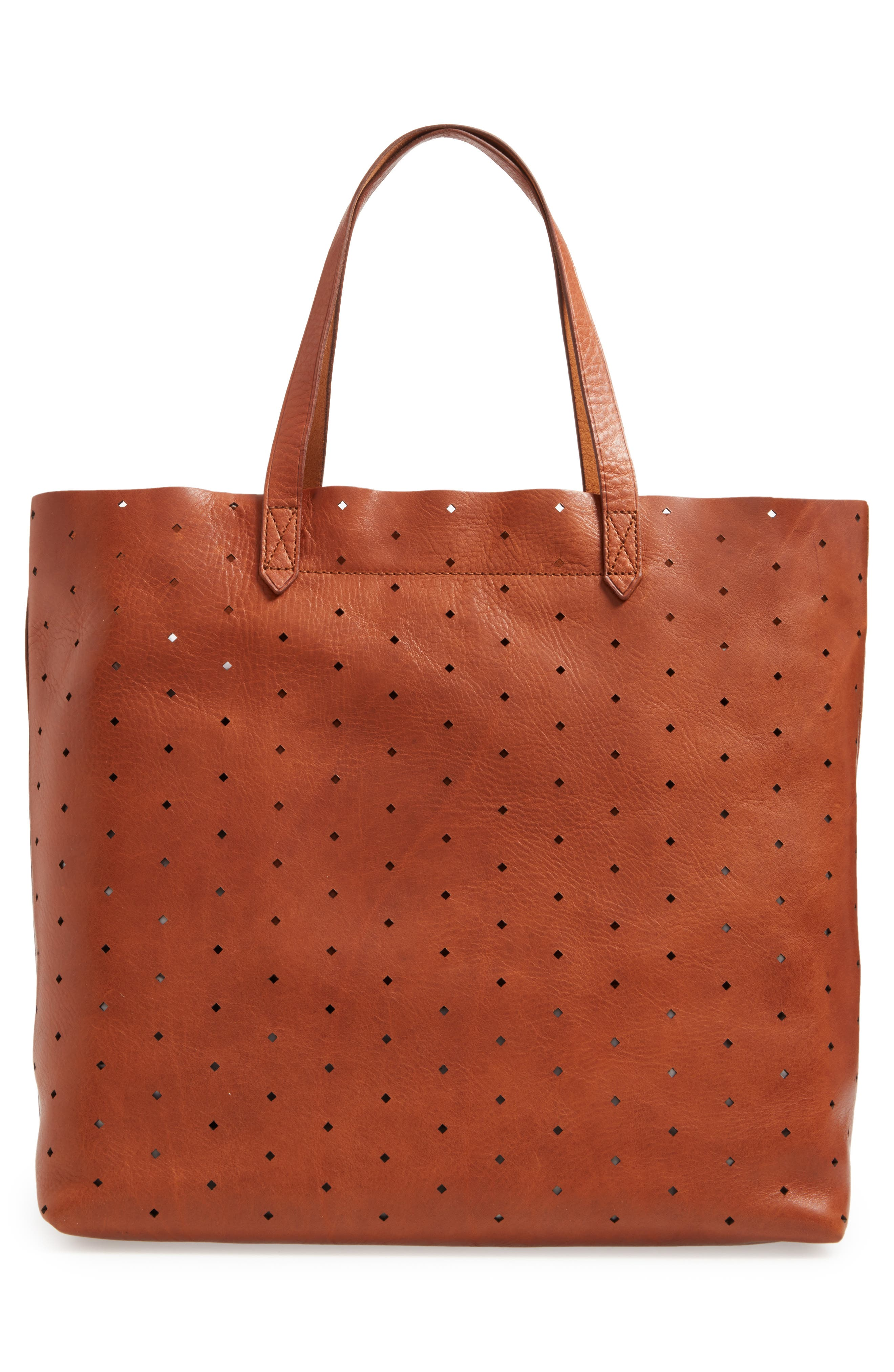 Alternate Image 2  - Madewell Transport Perforated Leather Tote