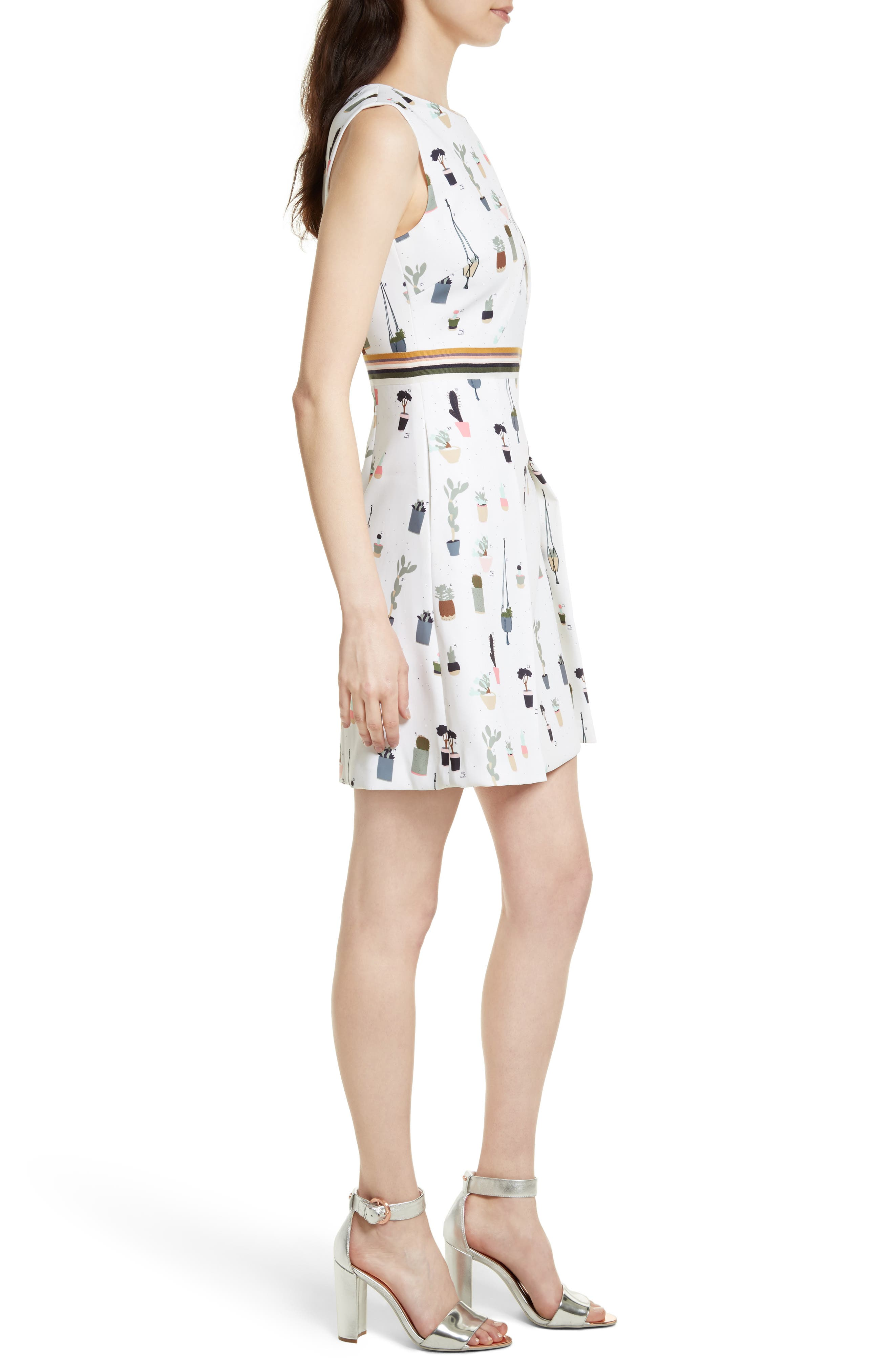 Alternate Image 3  - Ted Baker London Tetro Sleeveless Fit & Flare Dress