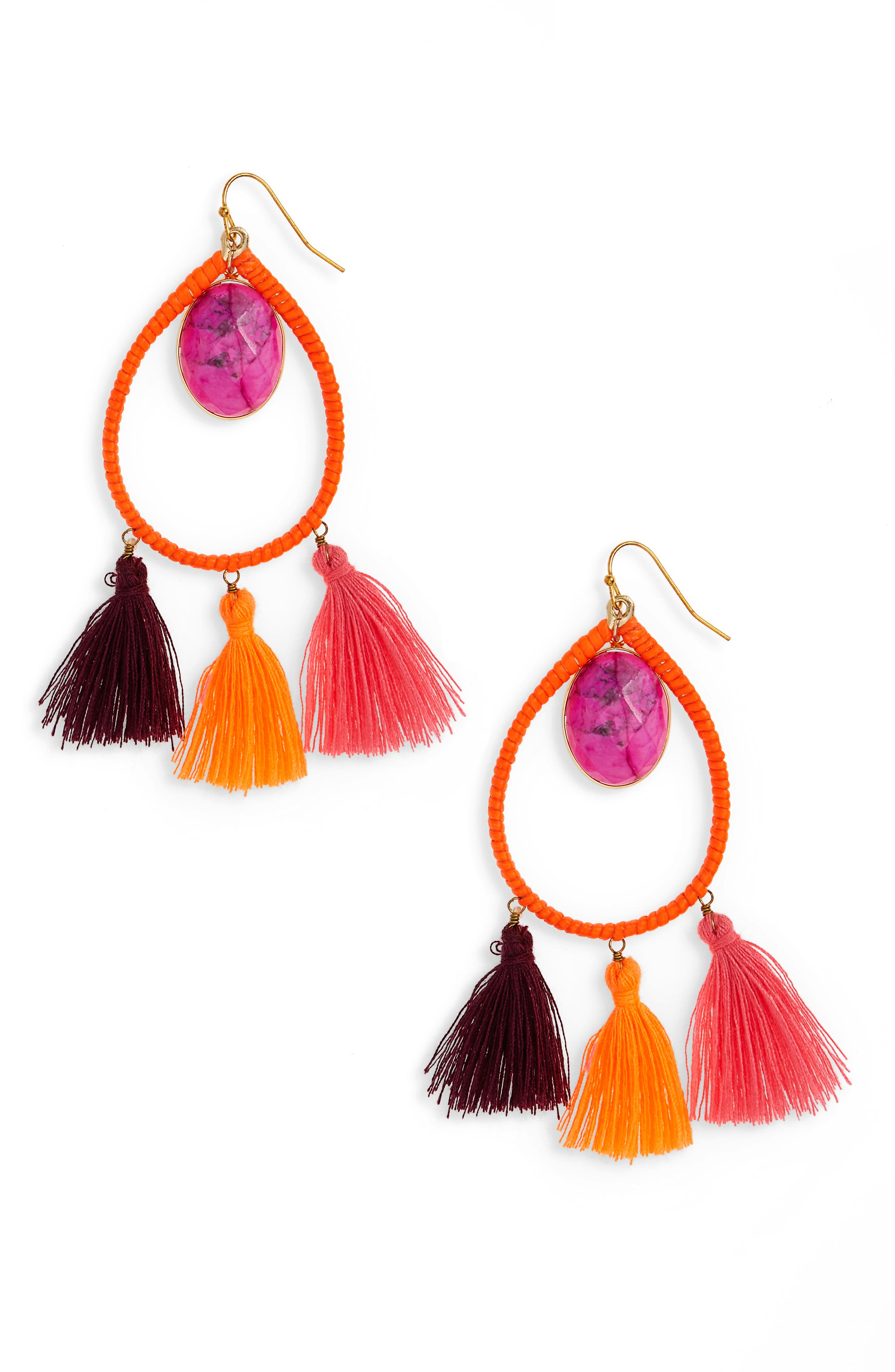 Alternate Image 1 Selected - Panacea Stone Tassel Earrings