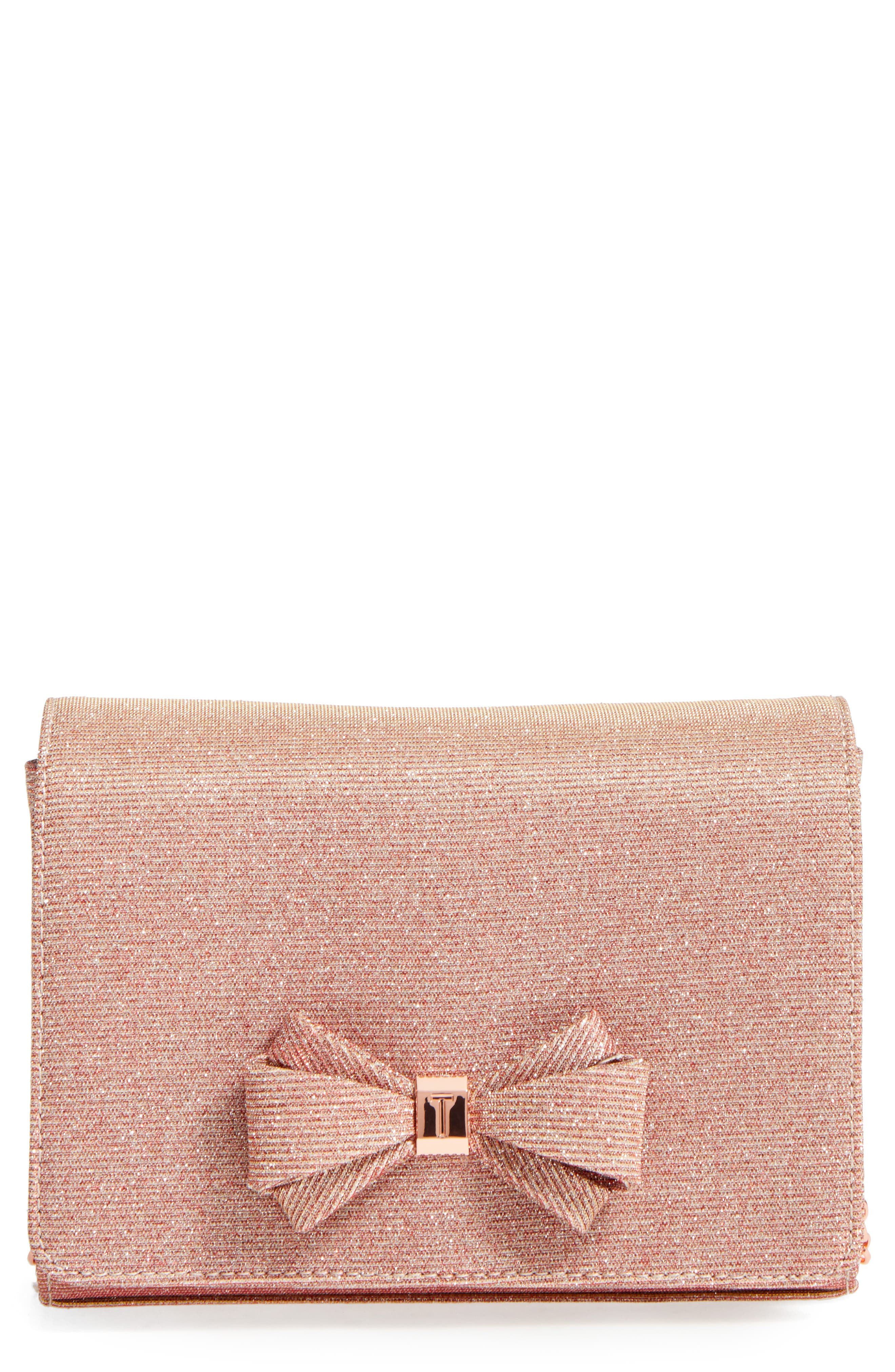 Main Image - Ted Baker London Glitter Bow Clutch