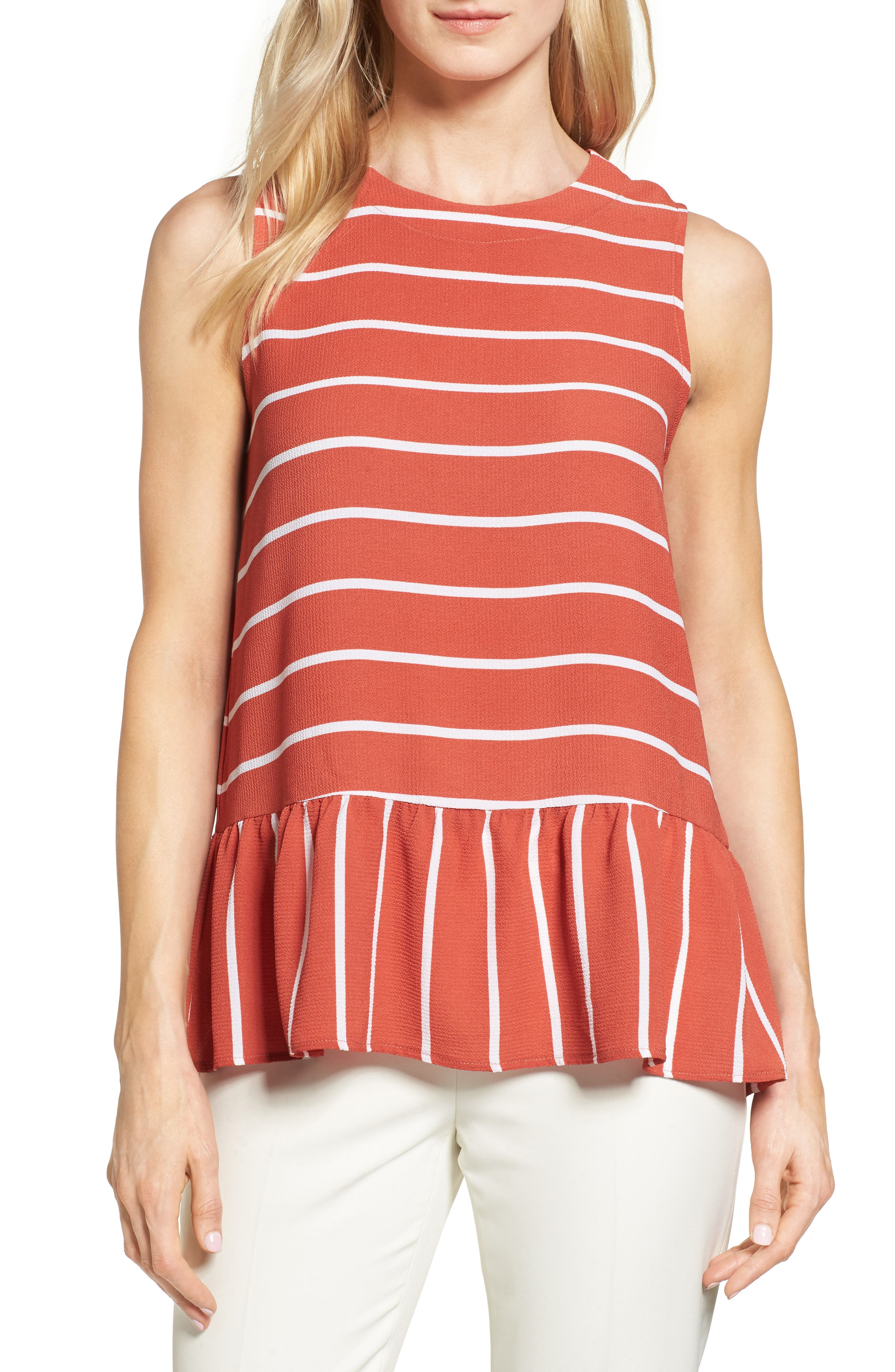 Halogen® Stripe Top (Regular & Petite)