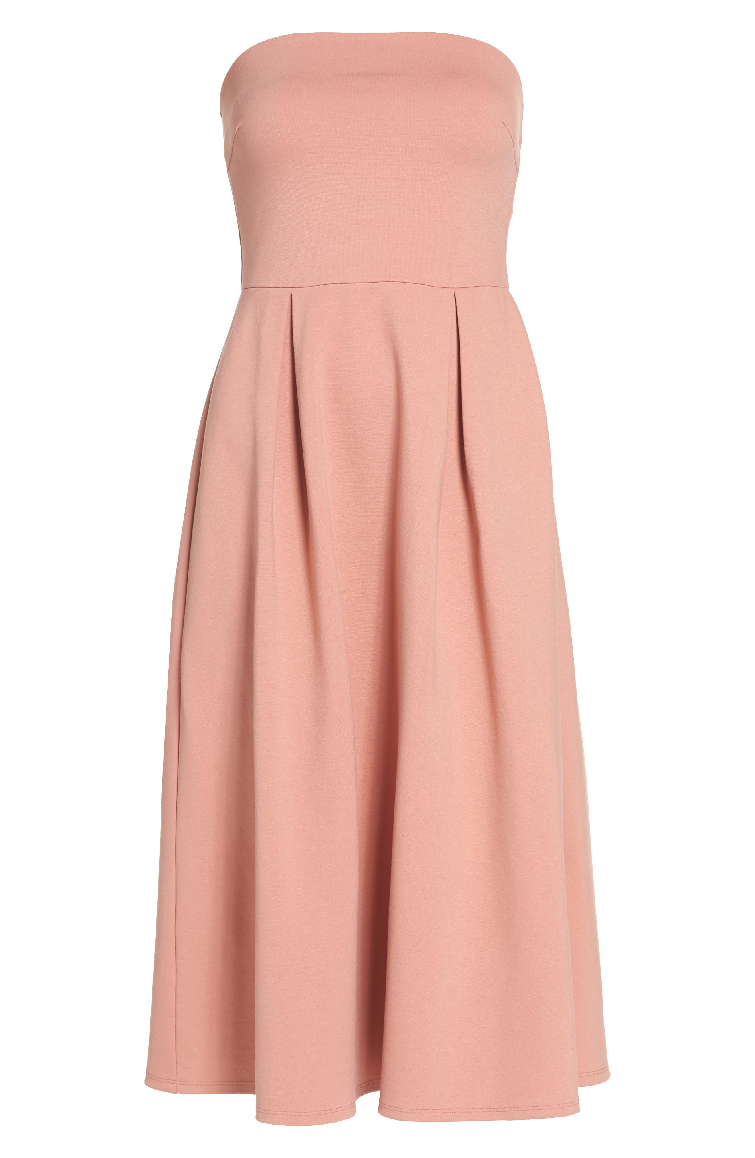 Alternate Image 4  - Charles Henry Strapless Midi Dress