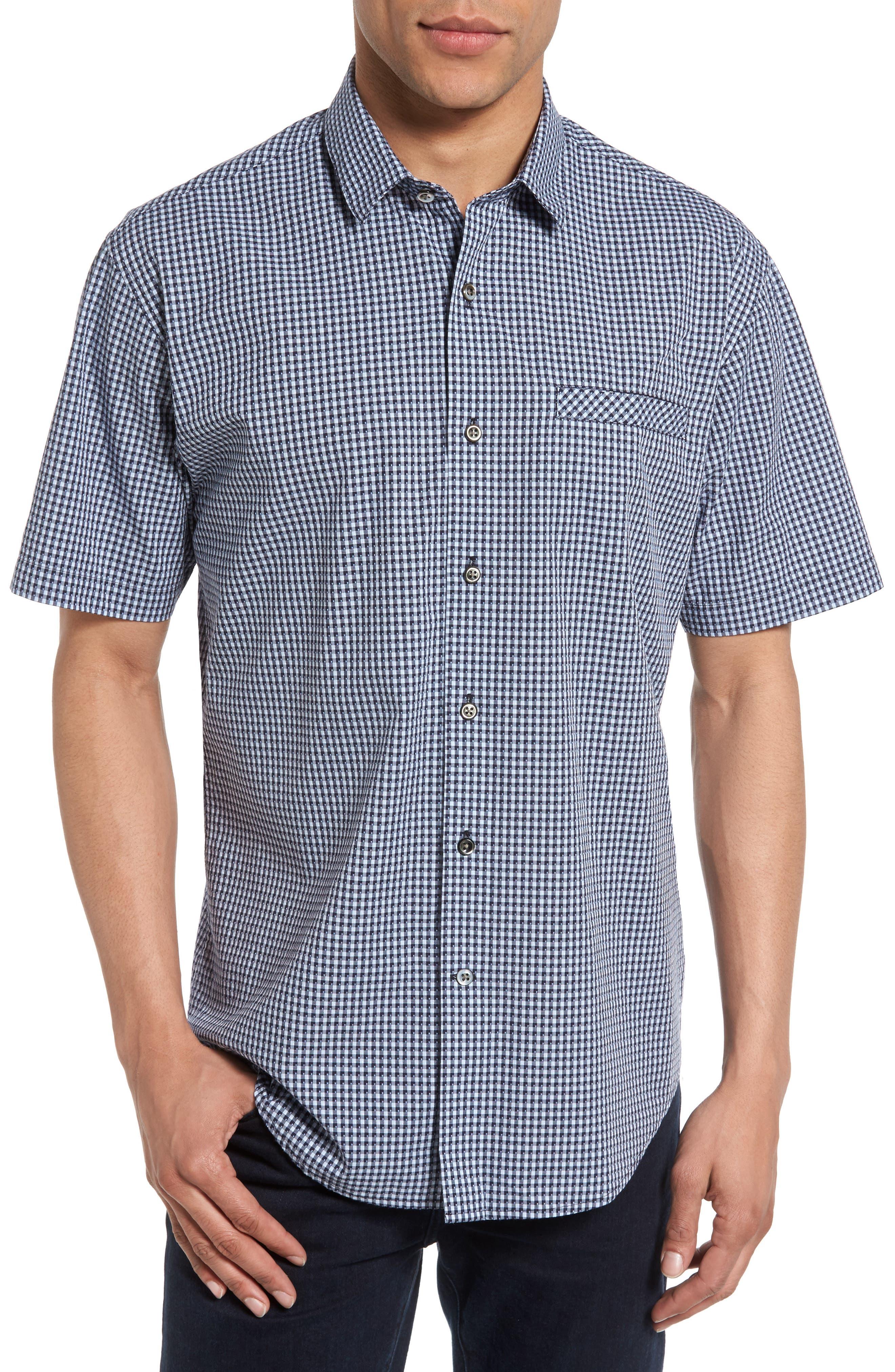 James Campbell Gingham Sport Shirt
