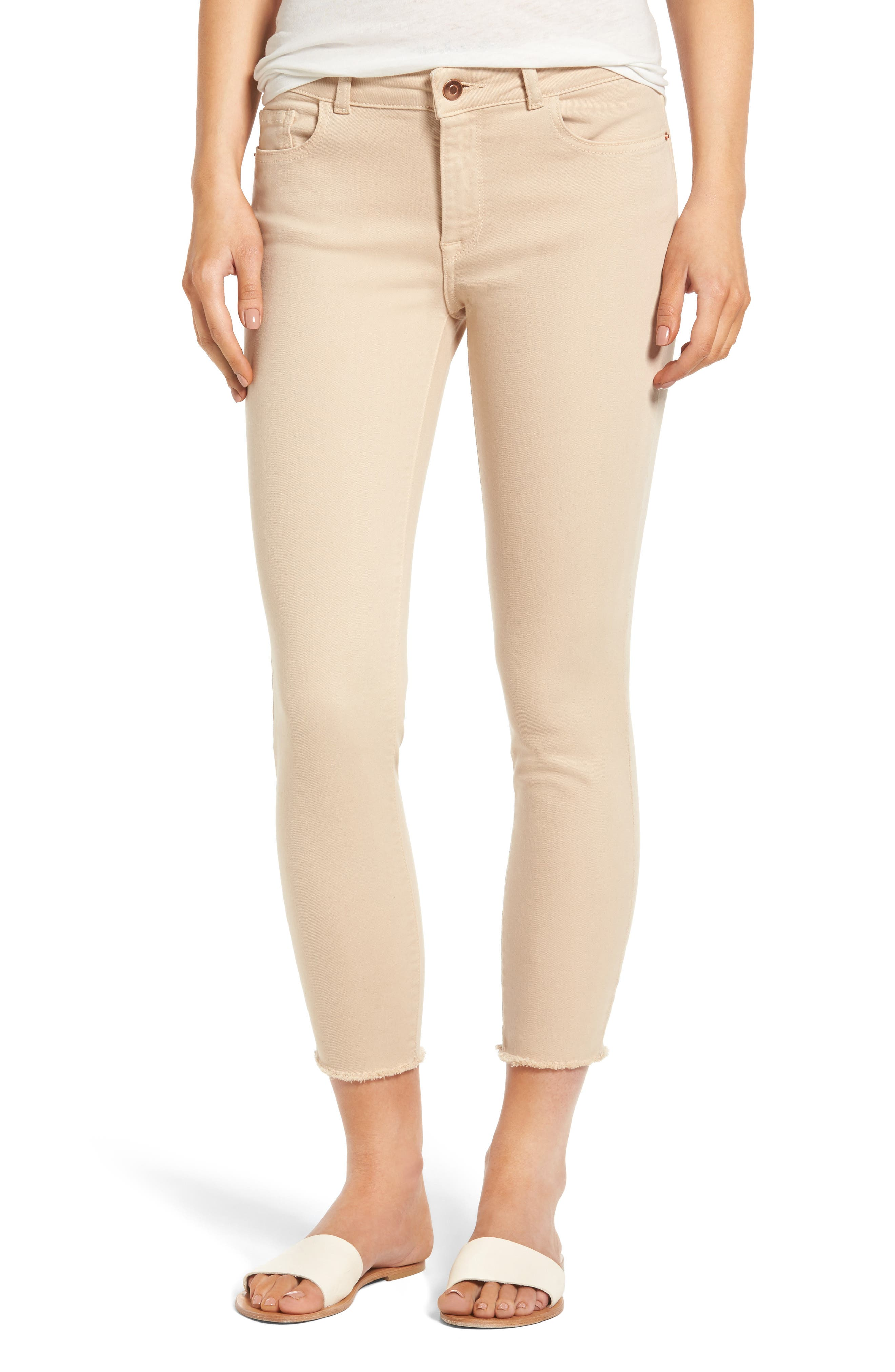 DL1961 Florence Instasculpt Crop Skinny Jeans (Freesia)