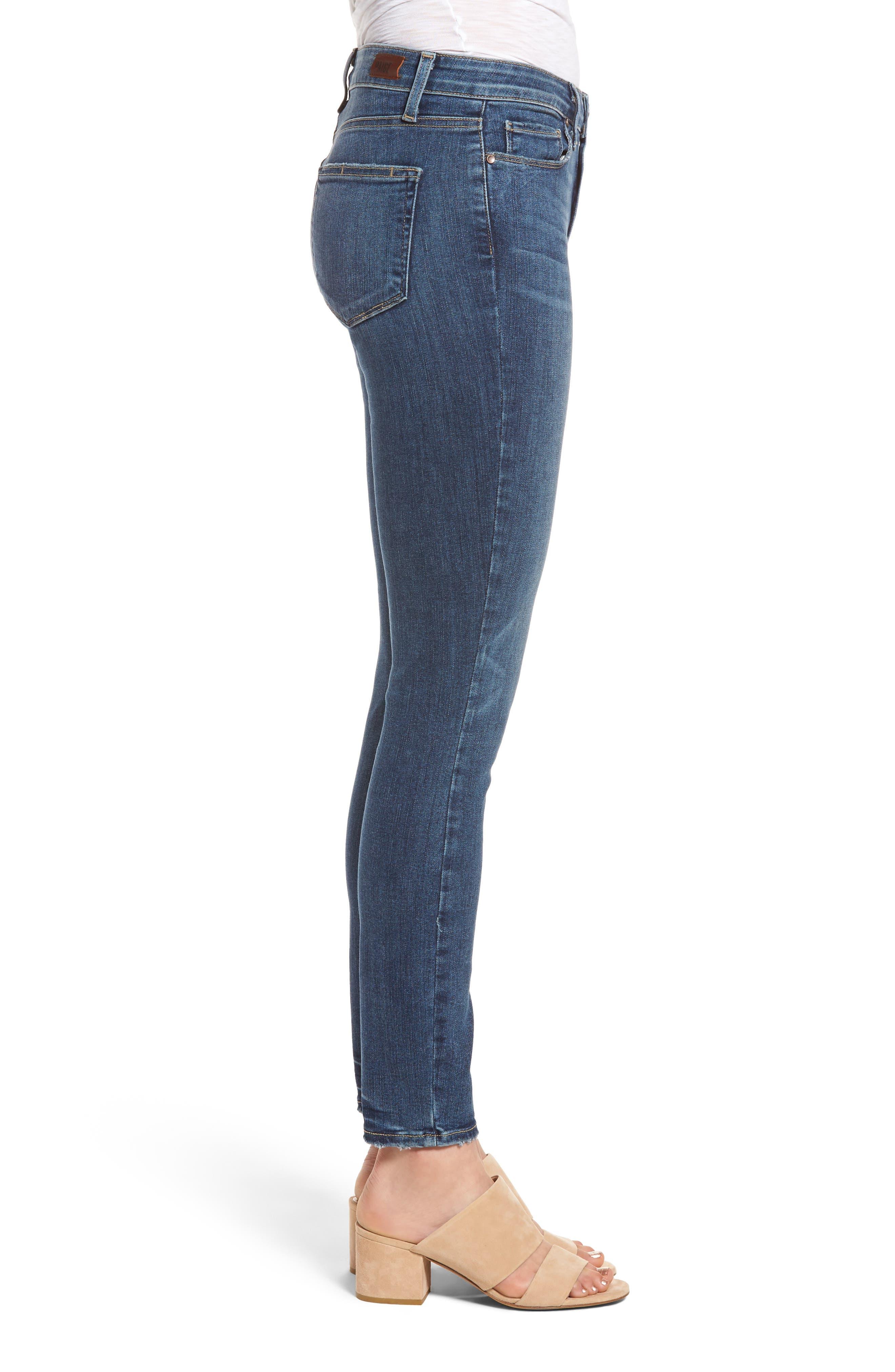 Alternate Image 3  - PAIGE Hoxton High Waist Ankle Skinny Jeans (Kiana)