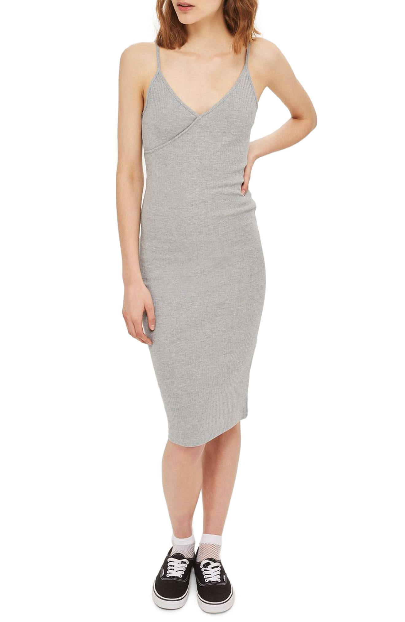 Main Image - Topshop Kaia Body-Con Midi Dress