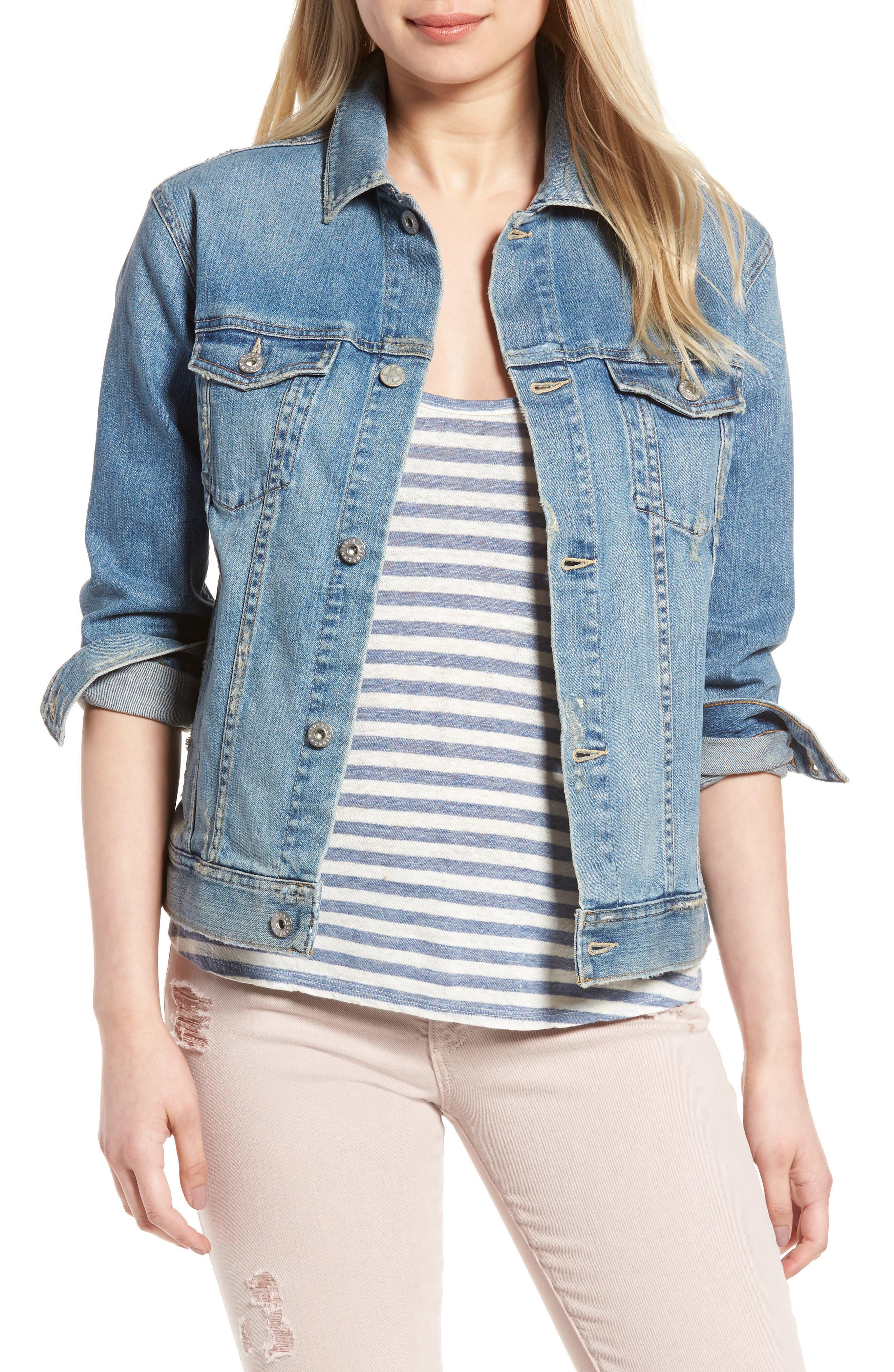 Alternate Image 1 Selected - AG The Nancy Boyfriend Denim Jacket