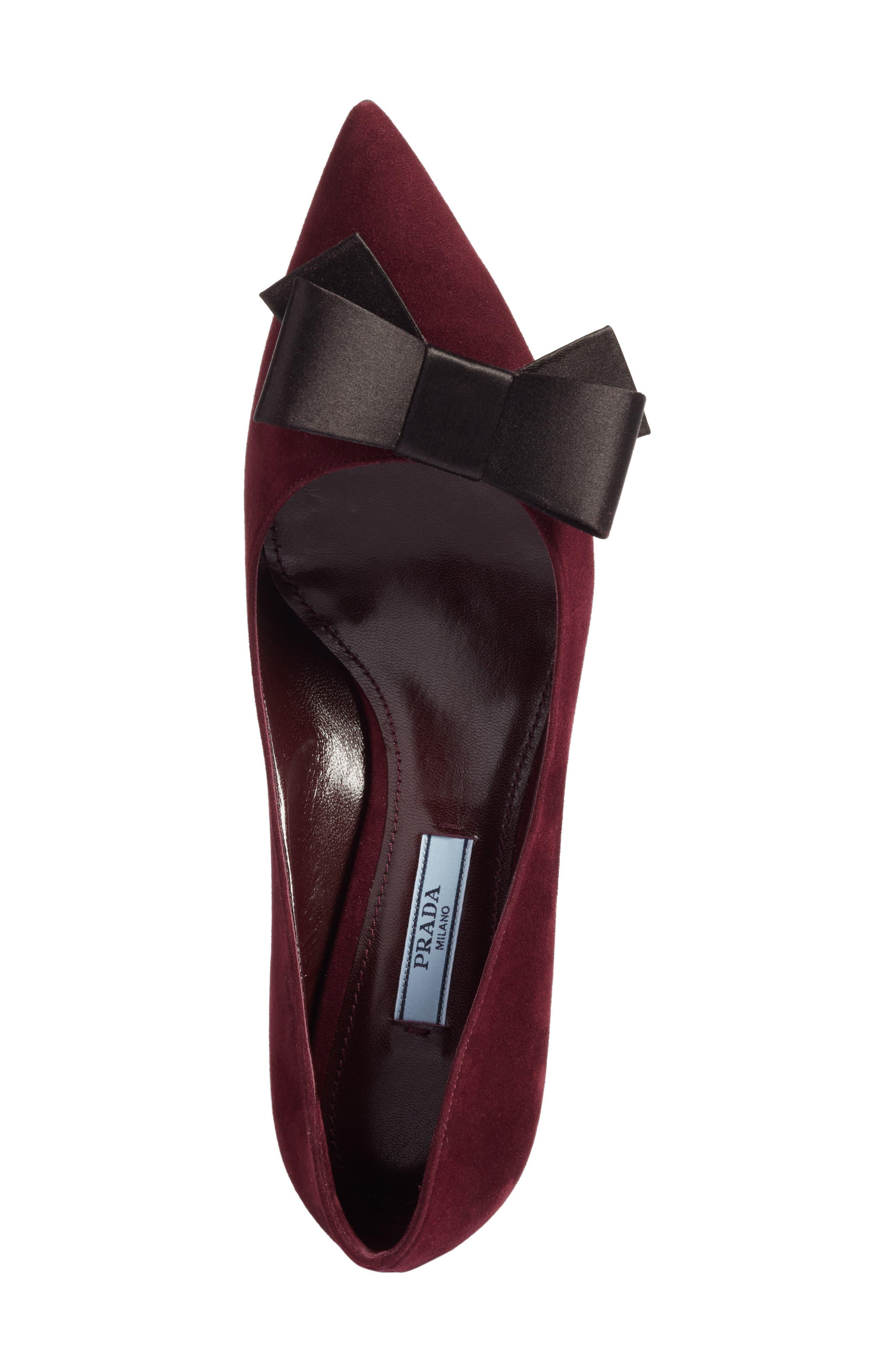 Alternate Image 5  - Prada Bow Pointy Toe Pump (Women)