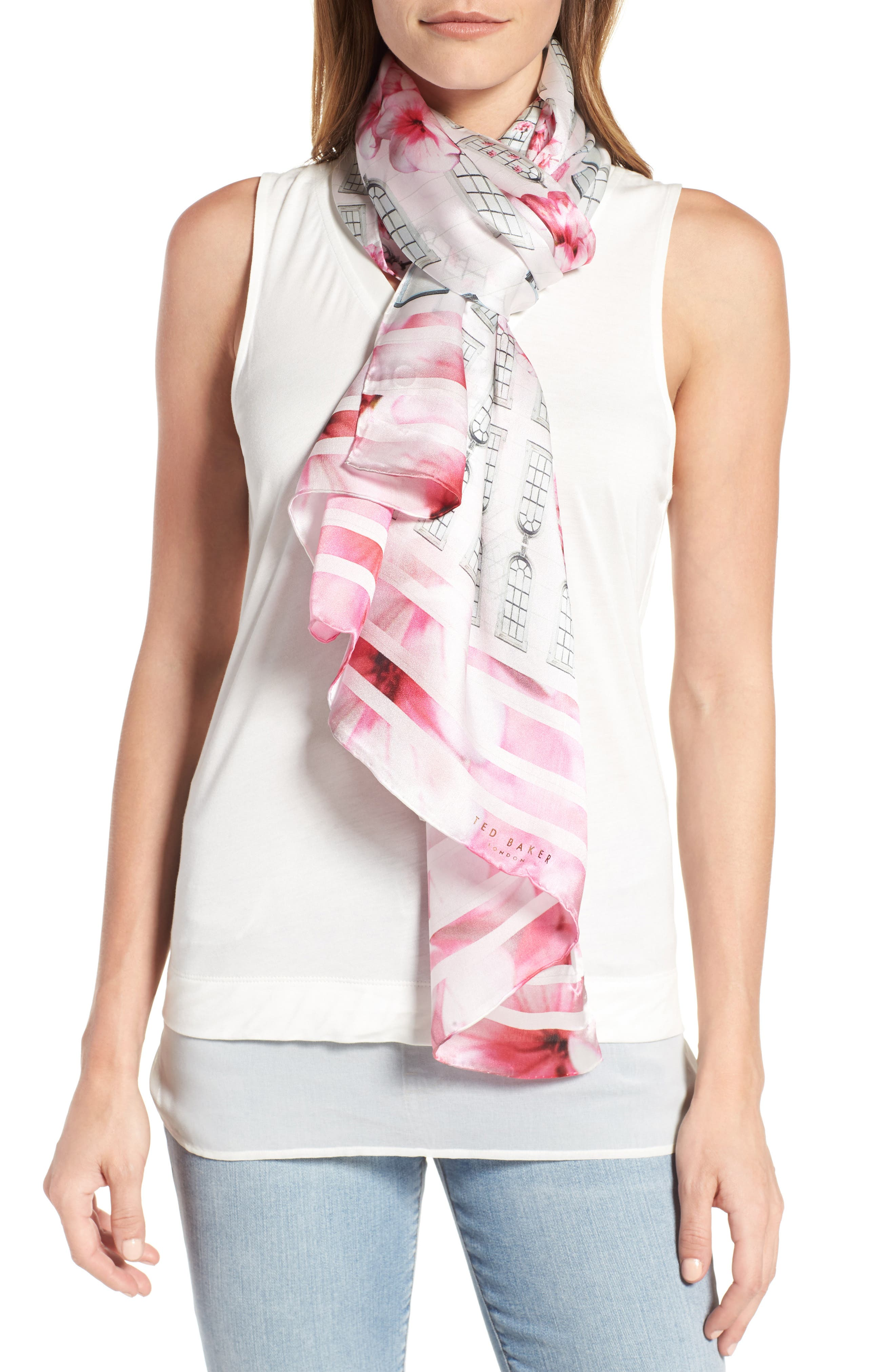 Ted Baker London Window Box Silk Scarf