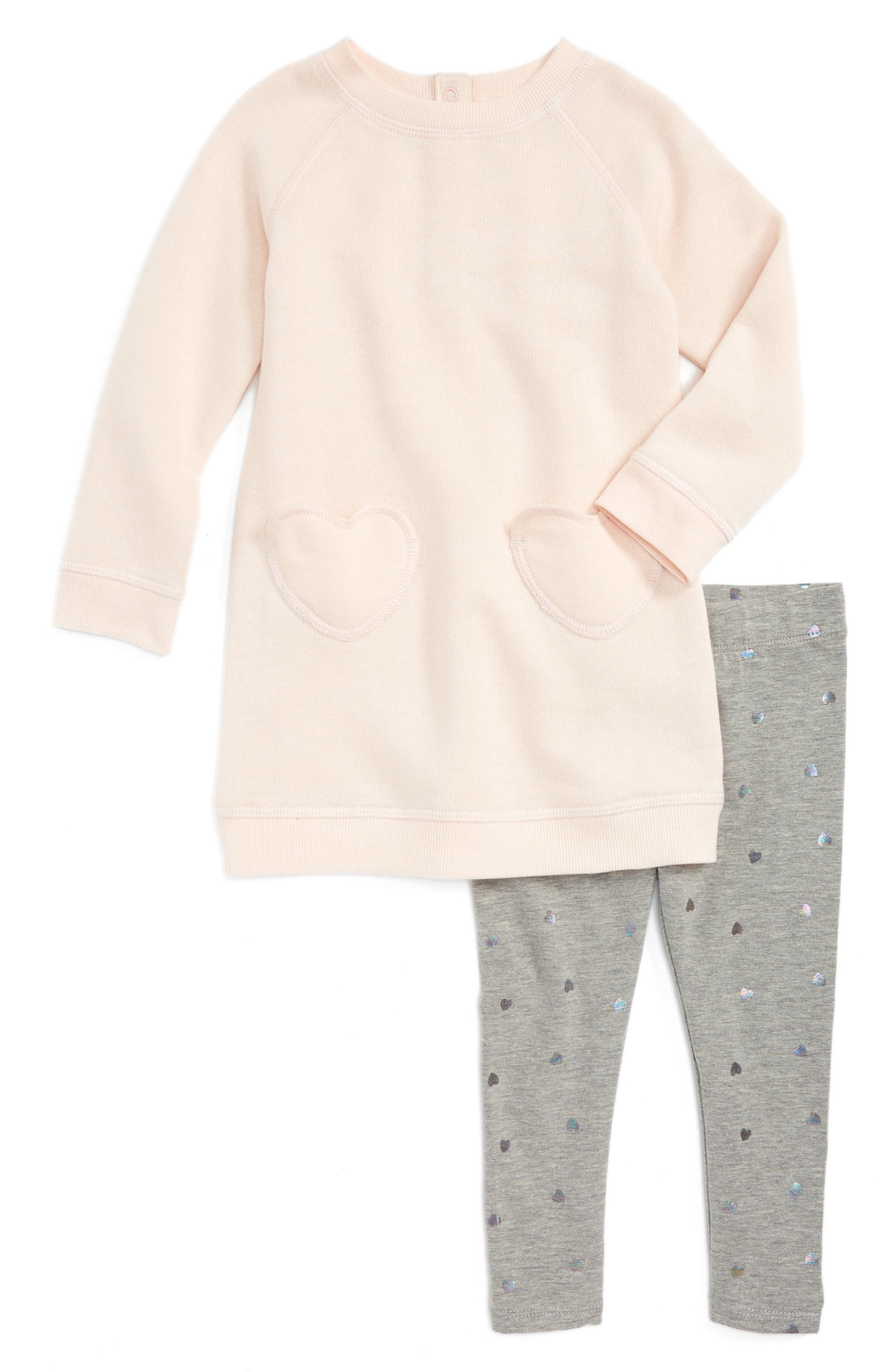 Tucker + Tate Fleece Dress & Leggings (Baby Girls)
