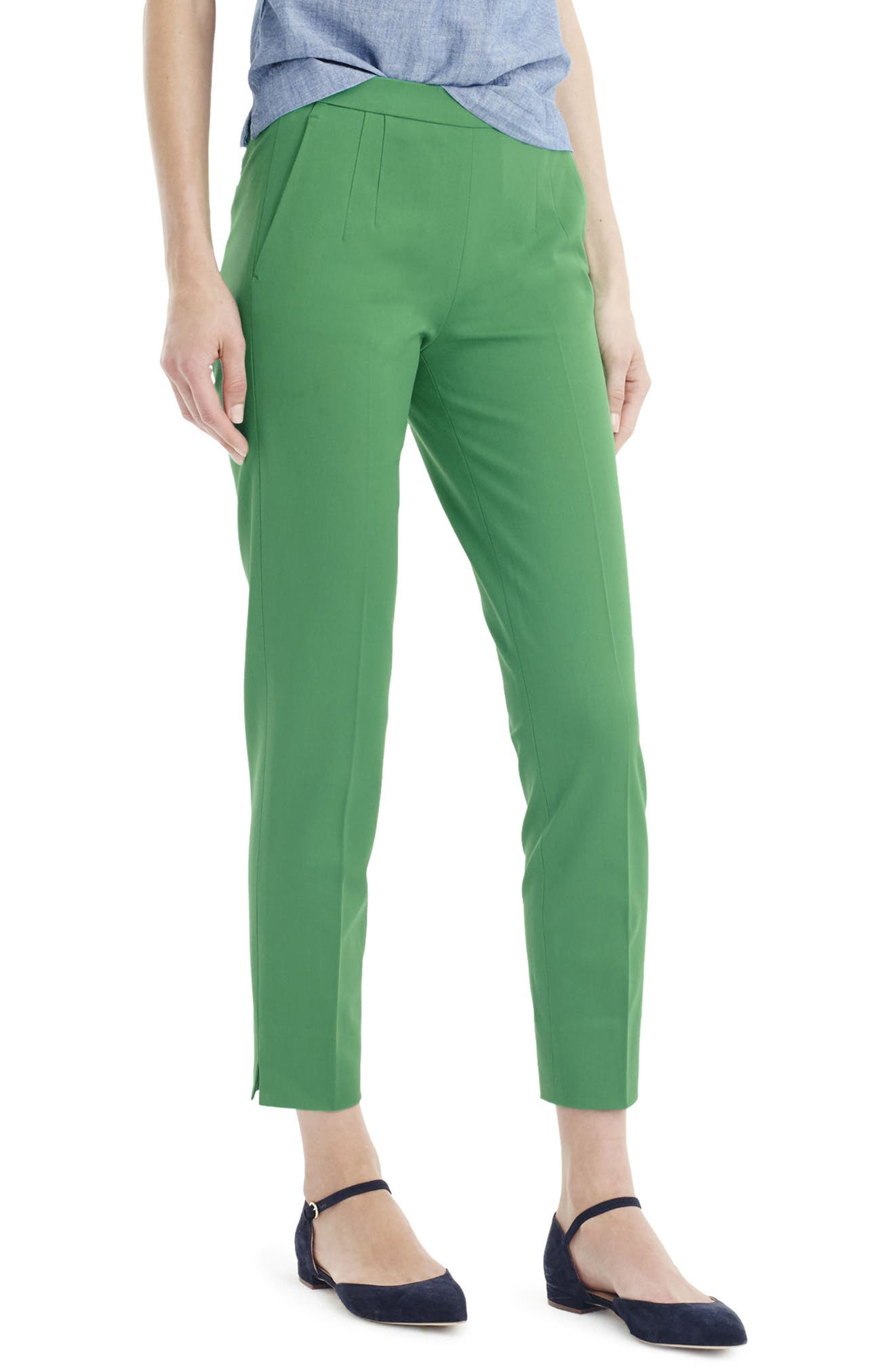 J.CREW 'Martie' Bi-Stretch Cotton Blend Pants