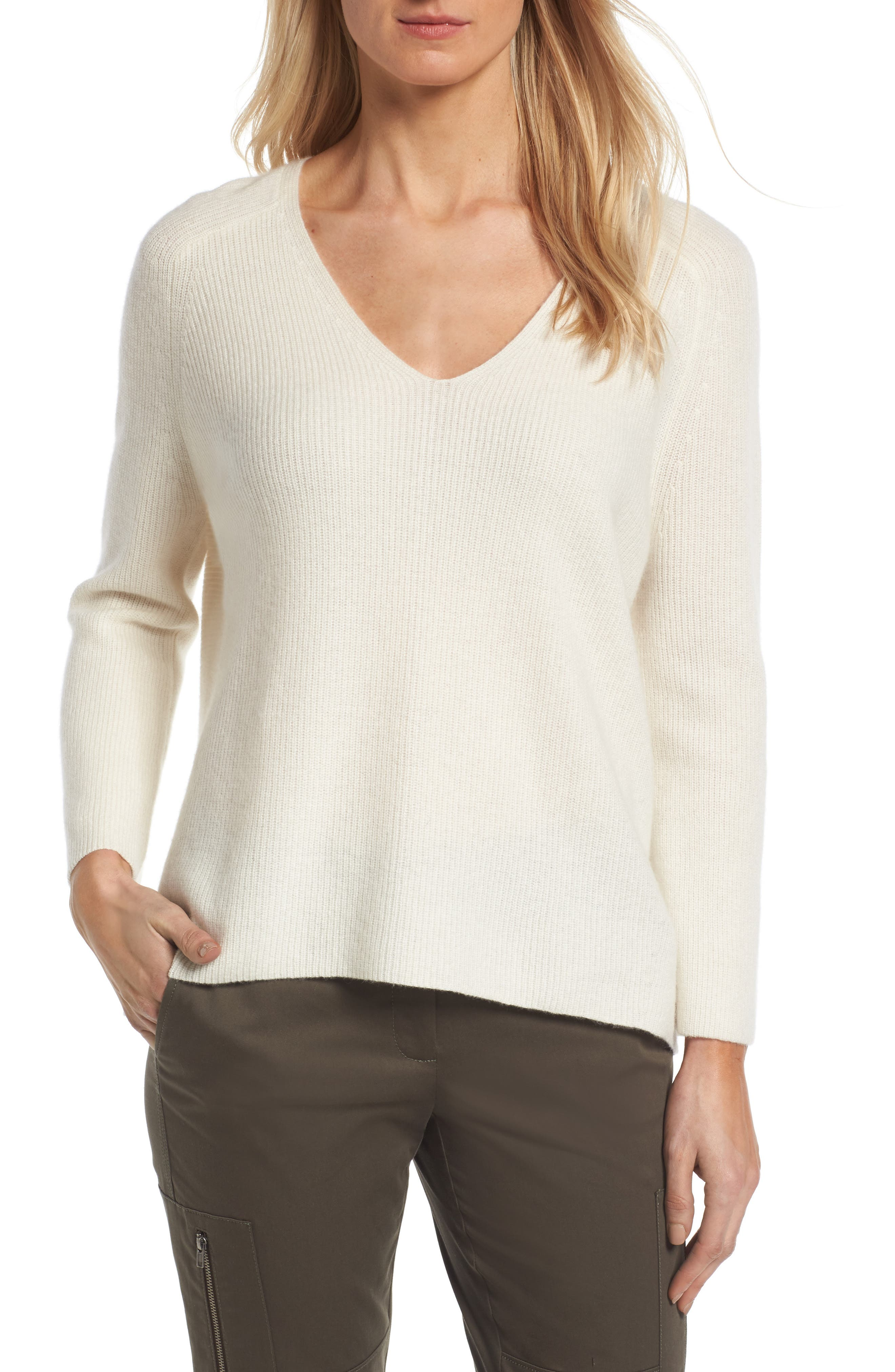 Nordstrom Signature Cashmere Bell Sleeve Pullover
