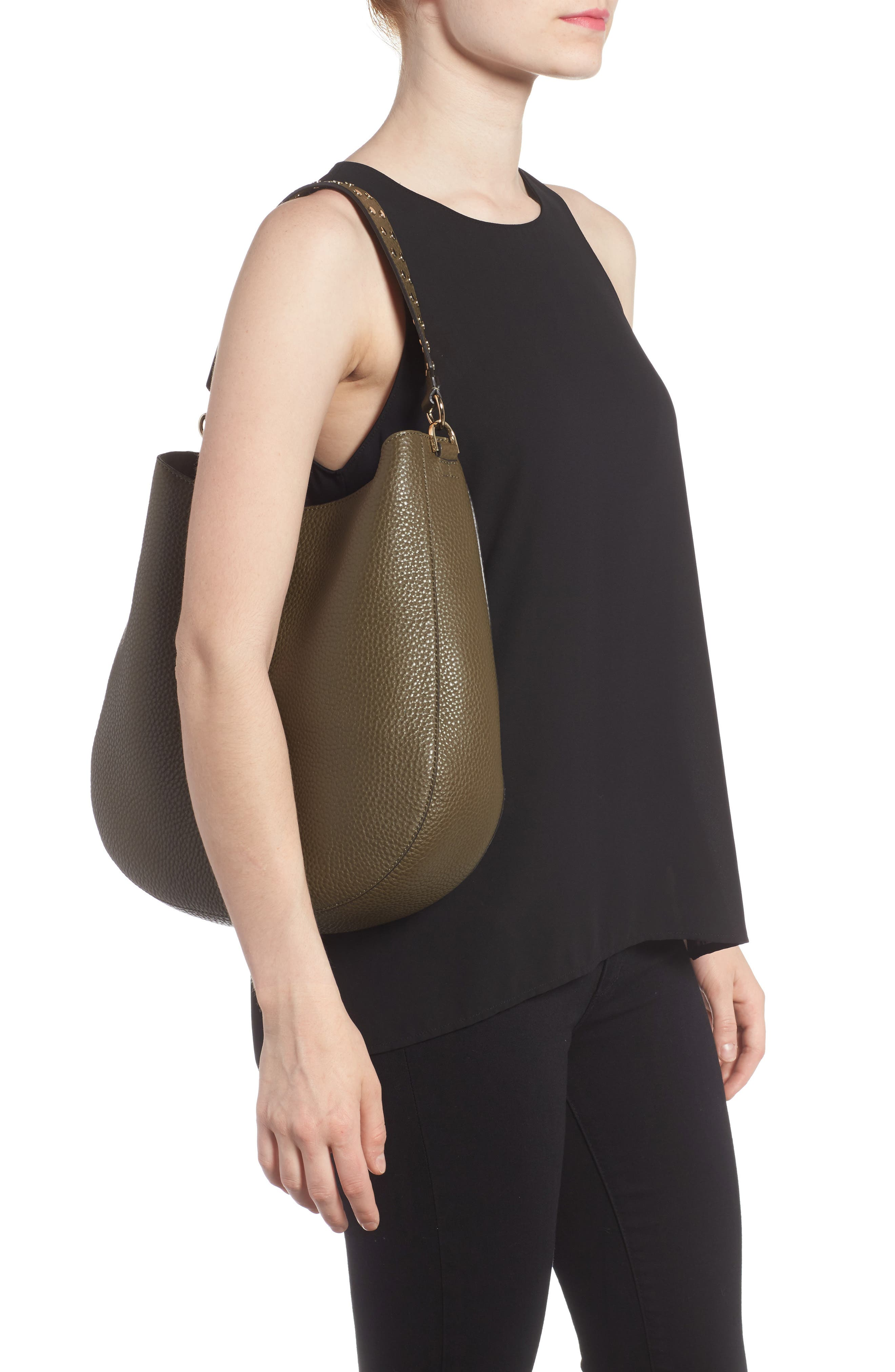 Alternate Image 2  - Rebecca Minkoff Unlined Convertible Leather Hobo (Nordstrom Exclusive)