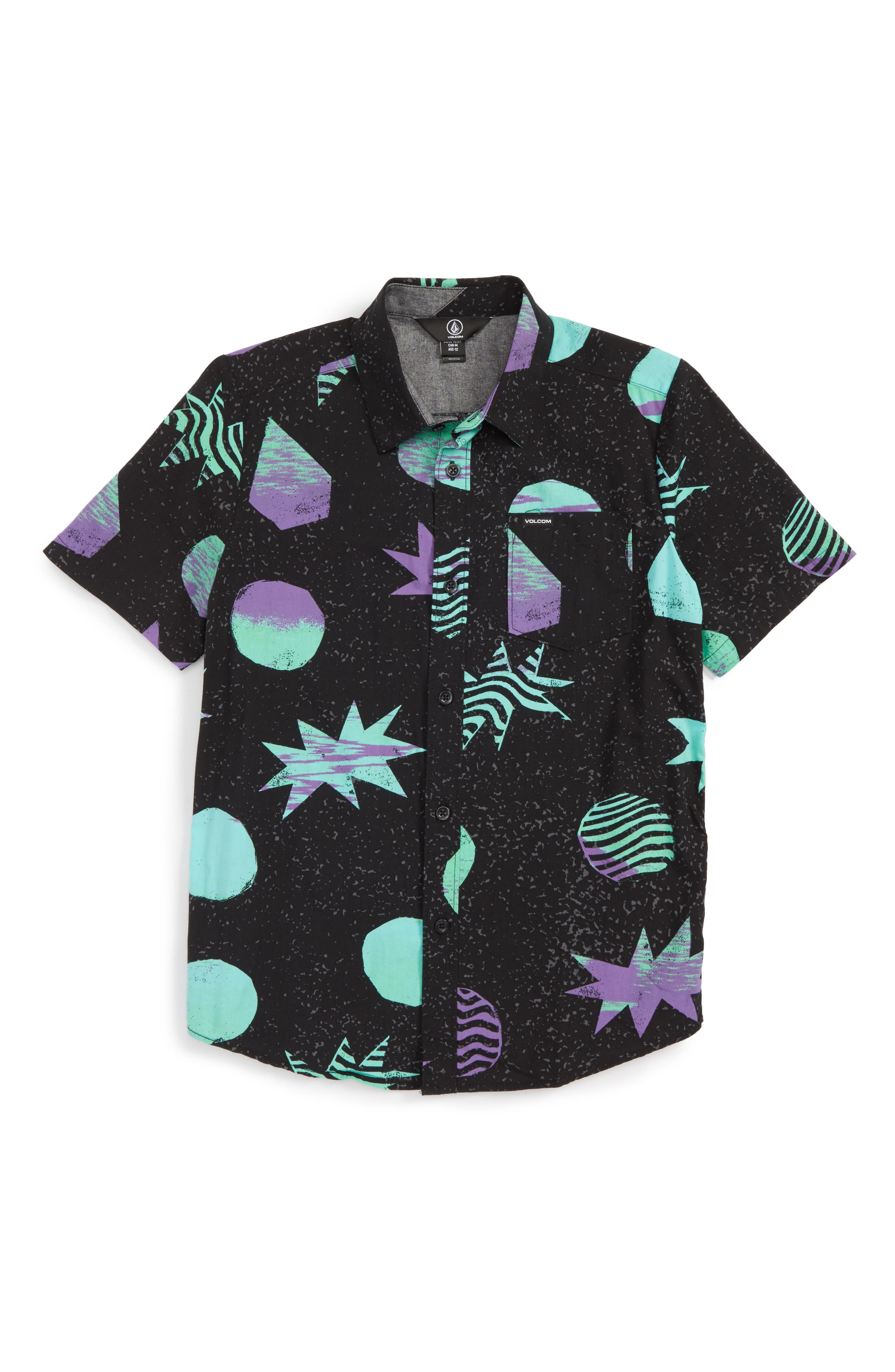 Volcom Cosmic Short Sleeve Woven Shirt (Big Boys)