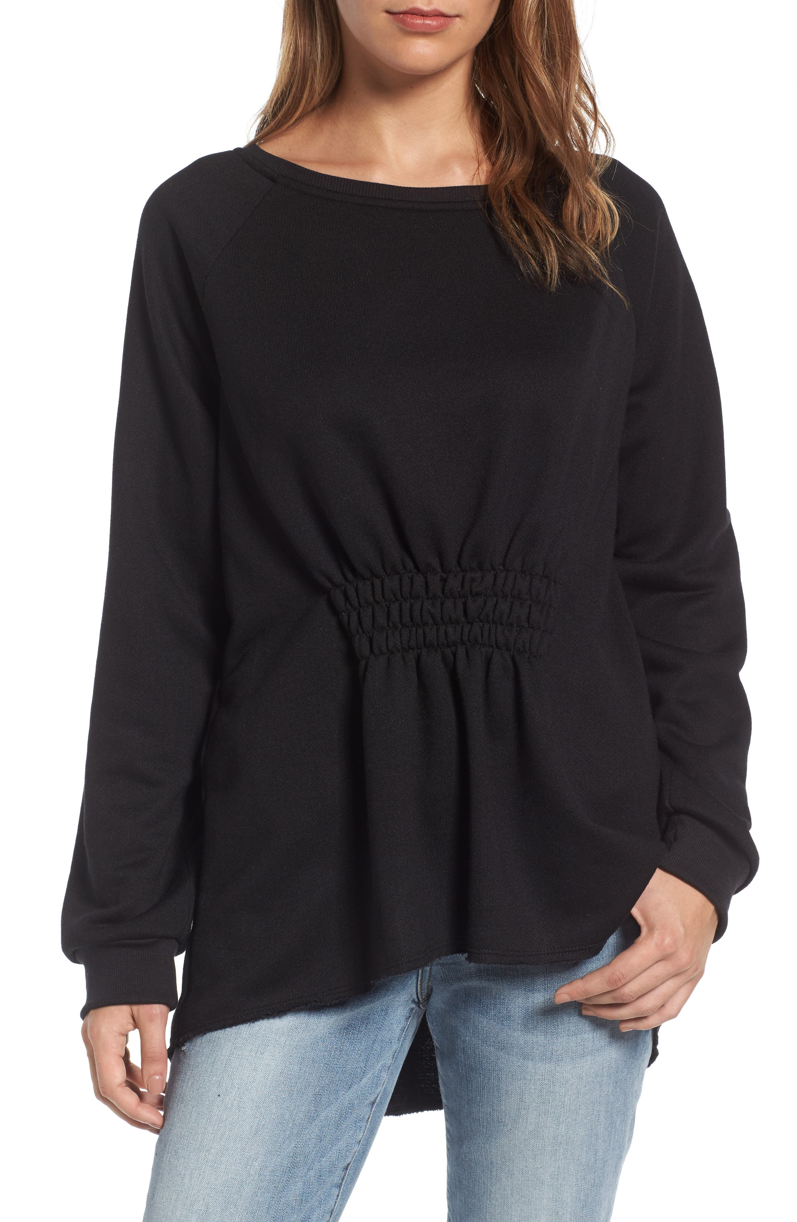 Gibson Gathered Front Sweatshirt (Regular & Petite)