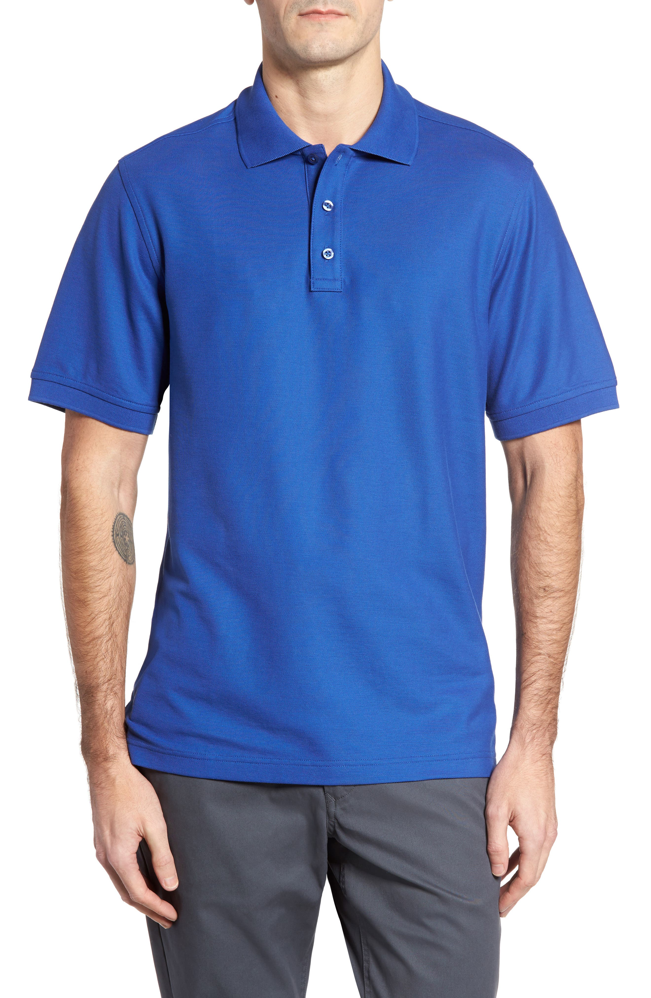 Alternate Image 1 Selected - Nordstrom Men's Shop 'Classic' Regular Fit Piqué Polo (Big)