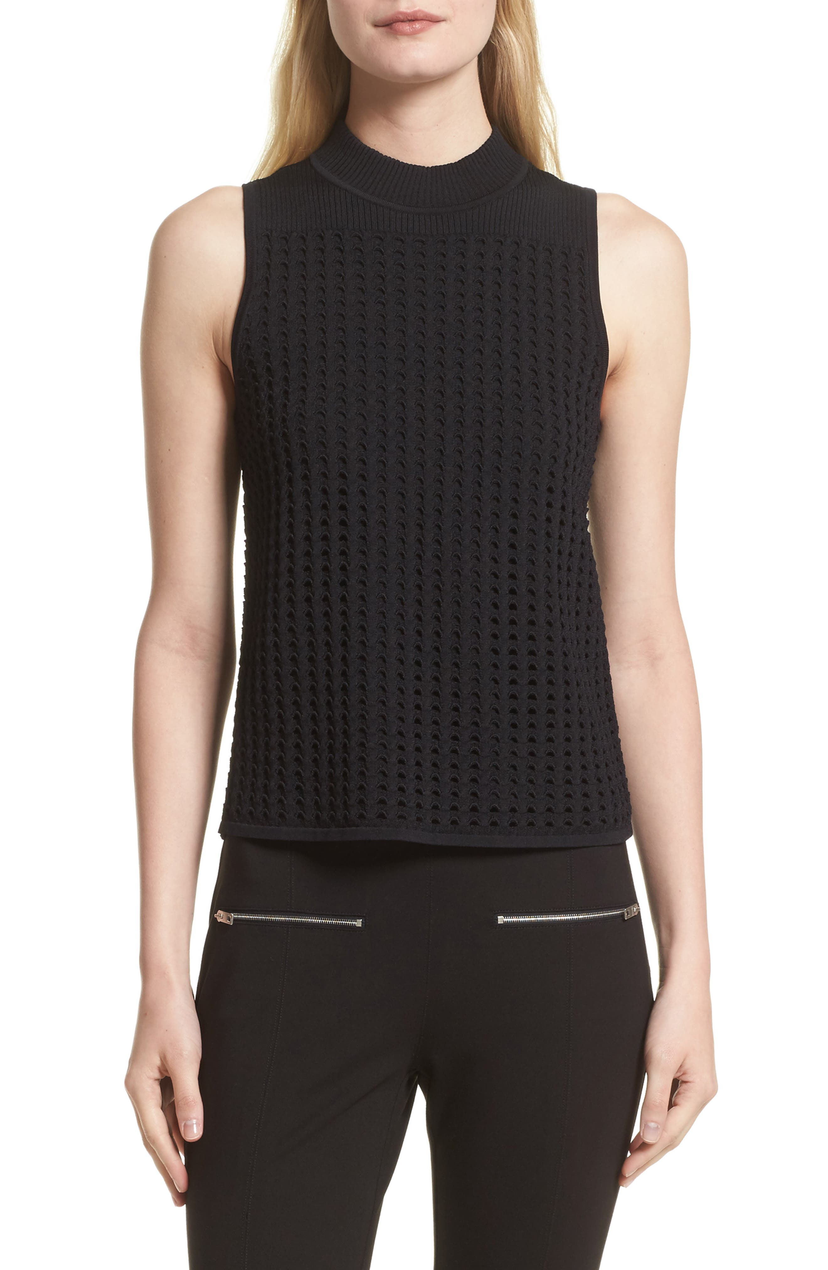 rag & bone Ingrid Perforated Knit Top (Nordstrom Exclusive)
