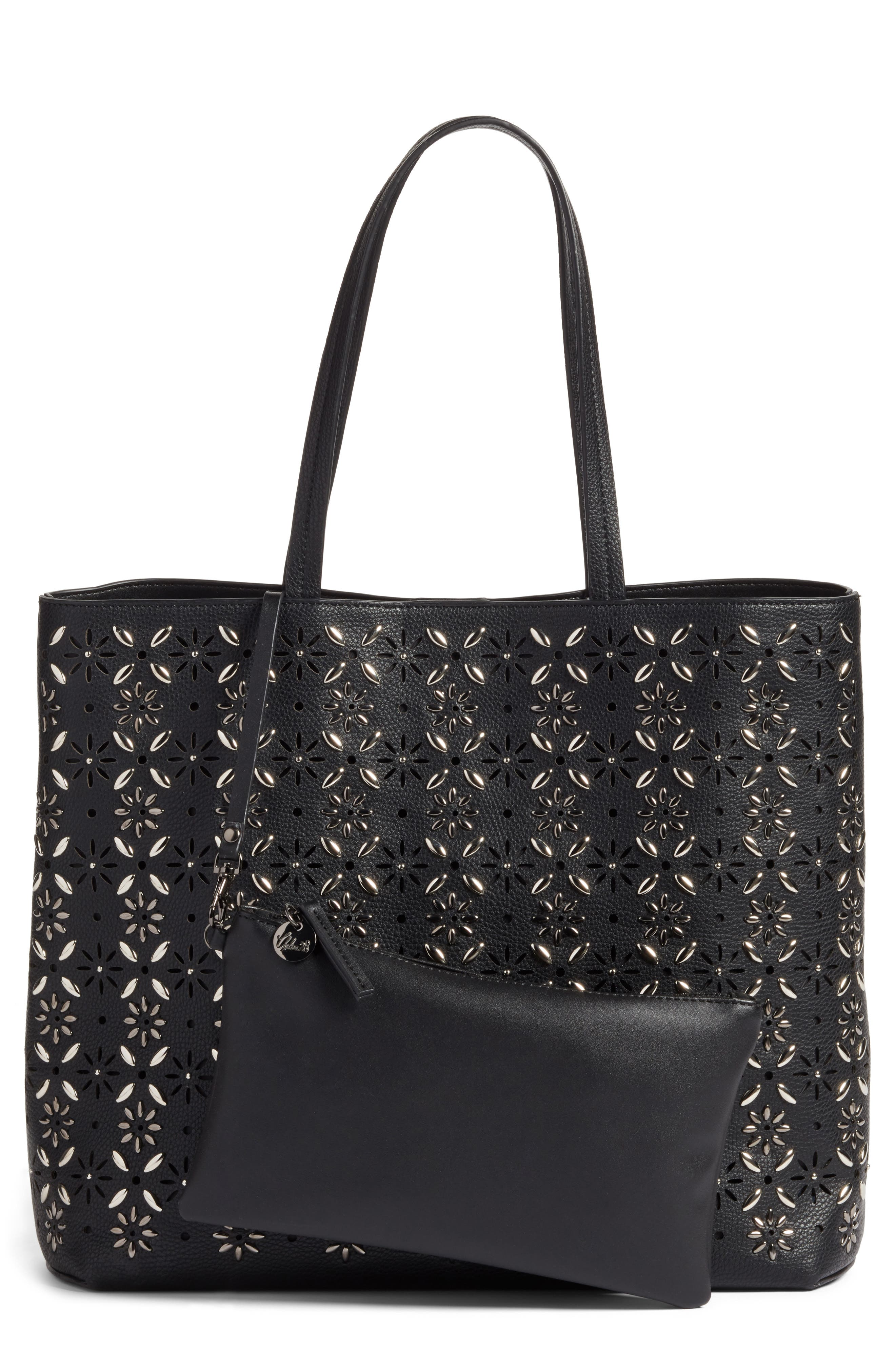 Chelsea28 Kaylee Embellished Faux Leather Tote