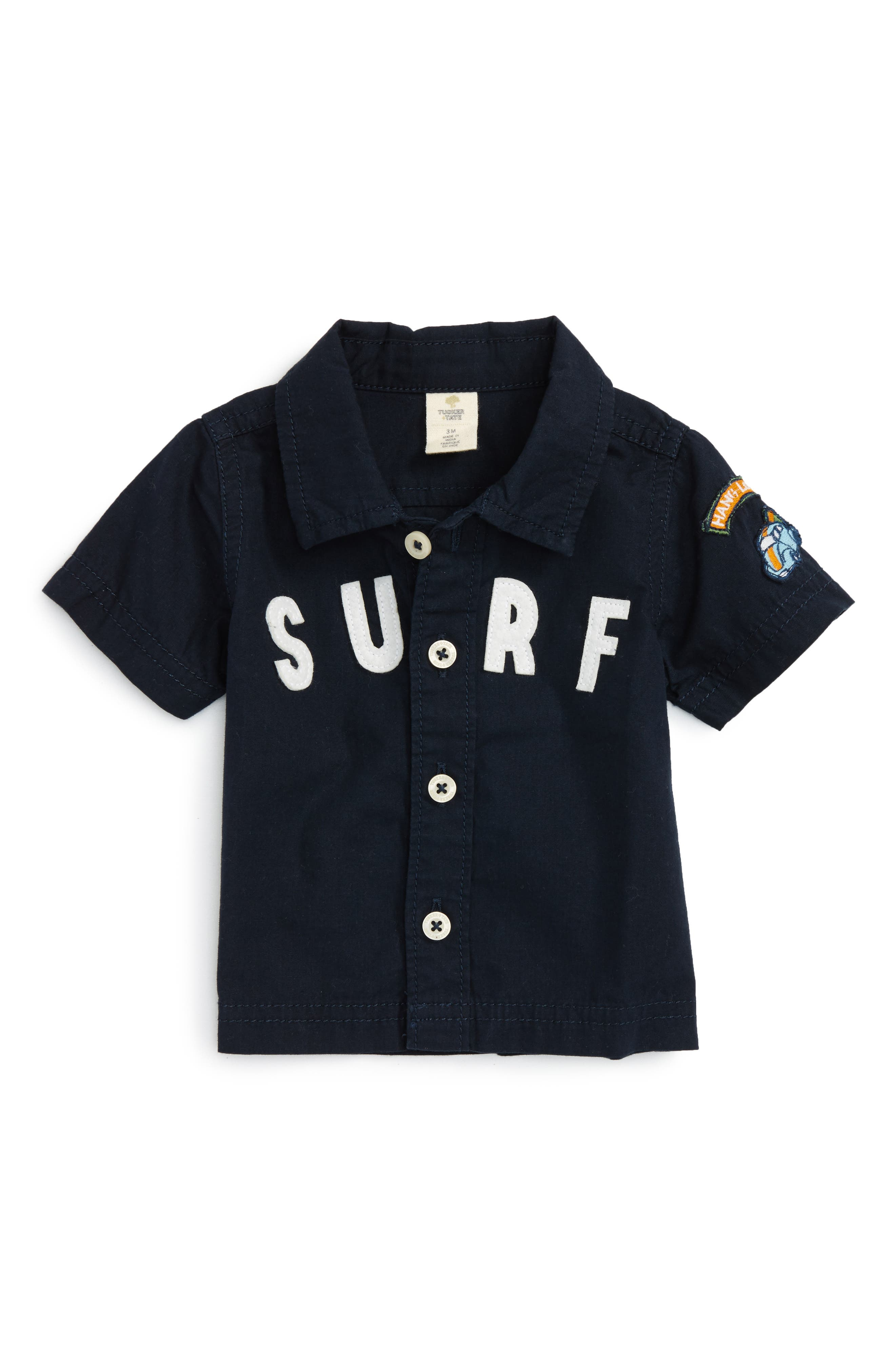 Tucker + Tate Surf Appliqué Woven Shirt (Baby Boys)