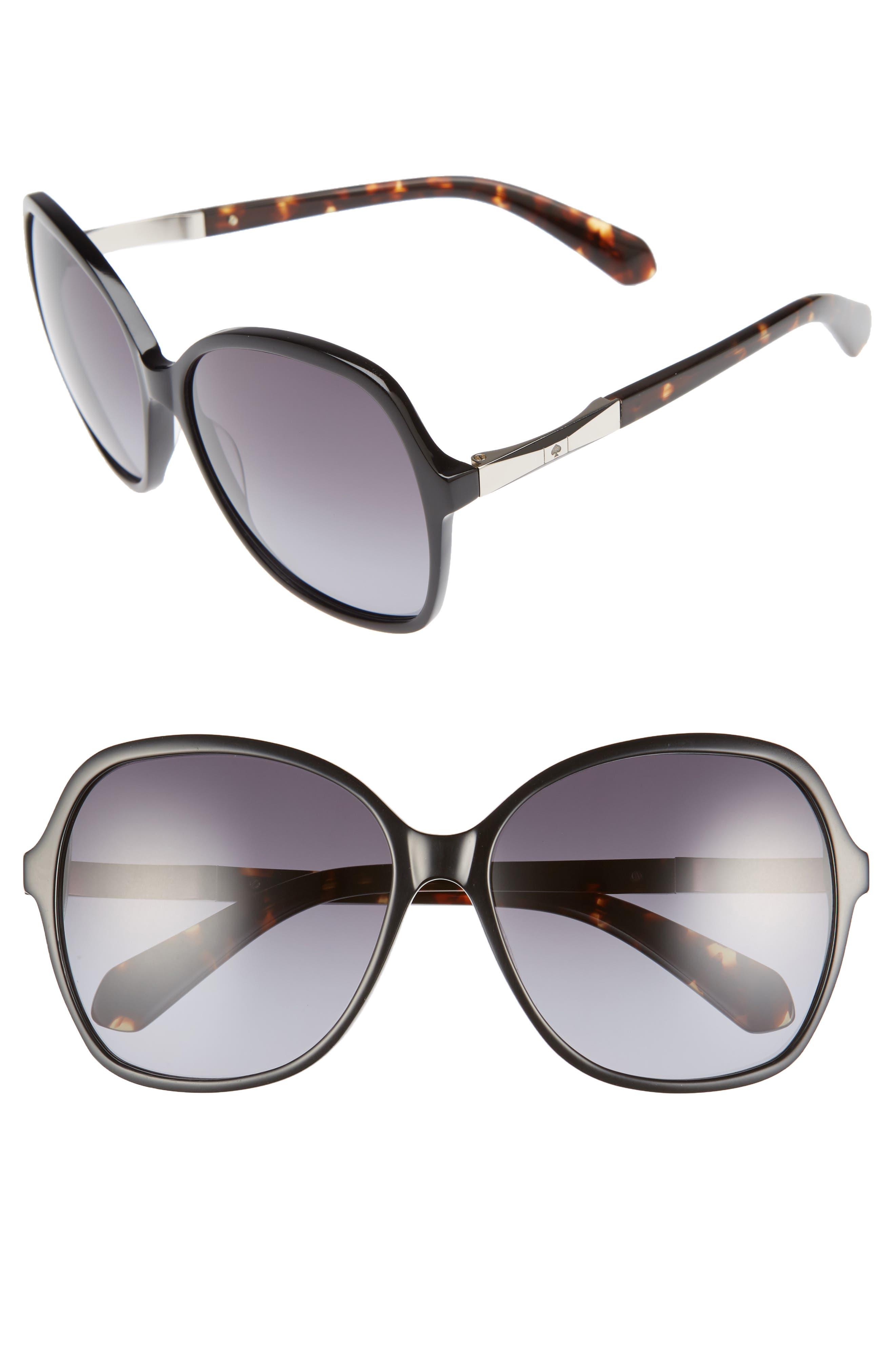 kate spade new york jolyn 58mm gradient-lens sunglasses