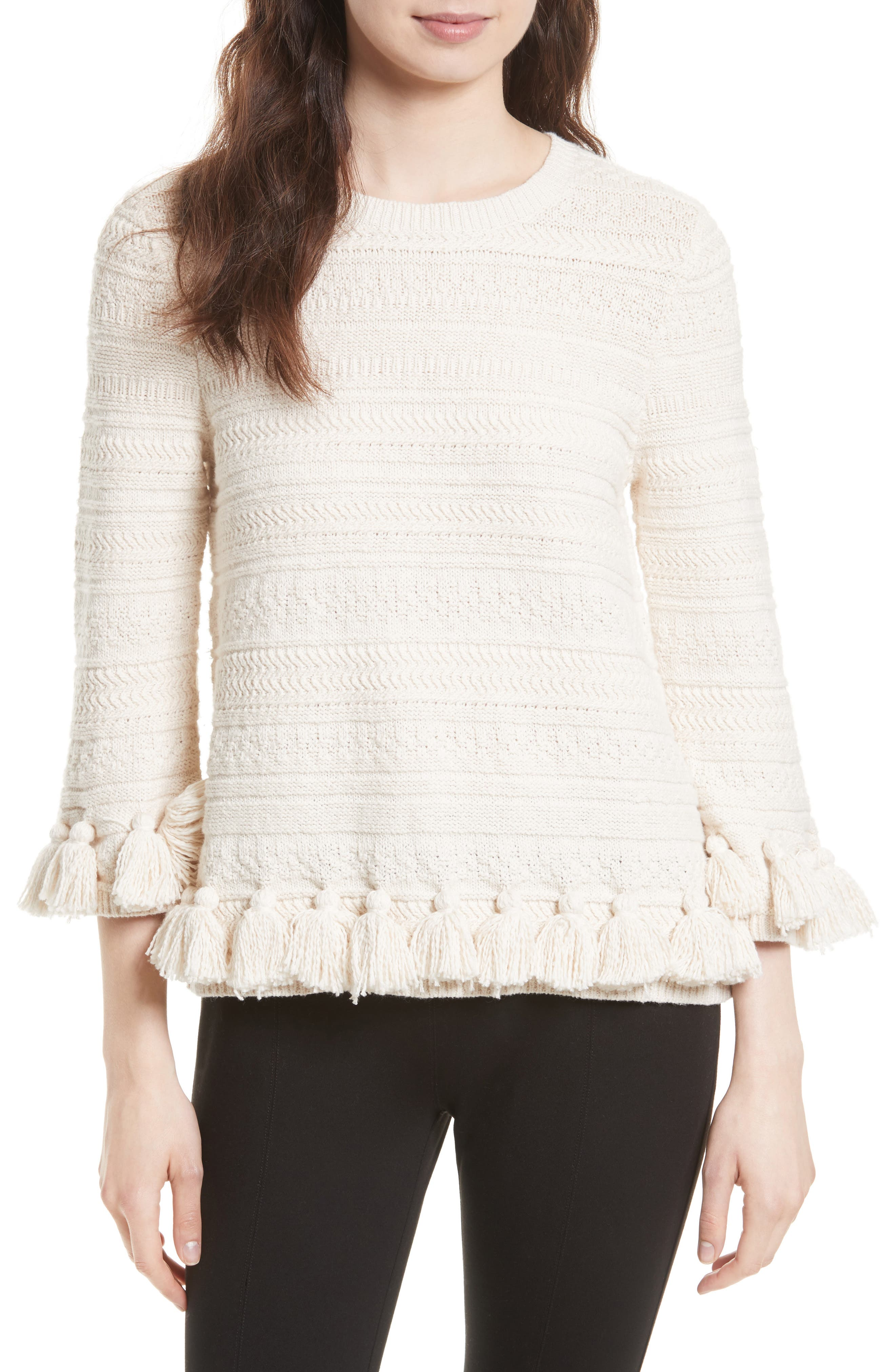 Main Image - kate spade new york textured tassel pullover