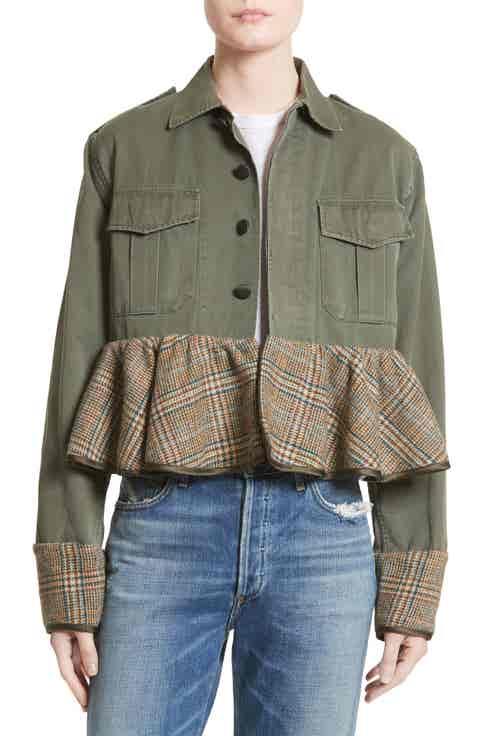 Harvey Faircloth Peplum Vintage Army Jacket