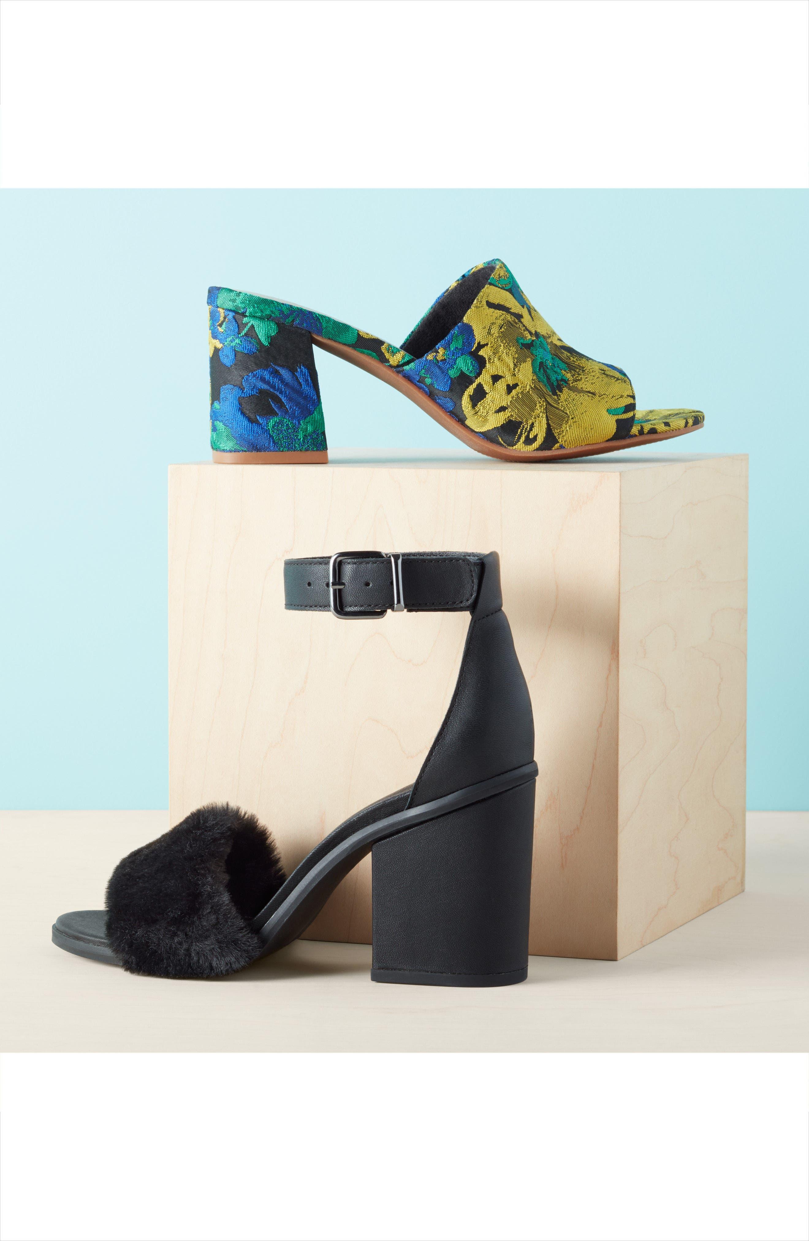 Alternate Image 7  - Seychelles Faux Fur Ankle Strap Sandal (Women)