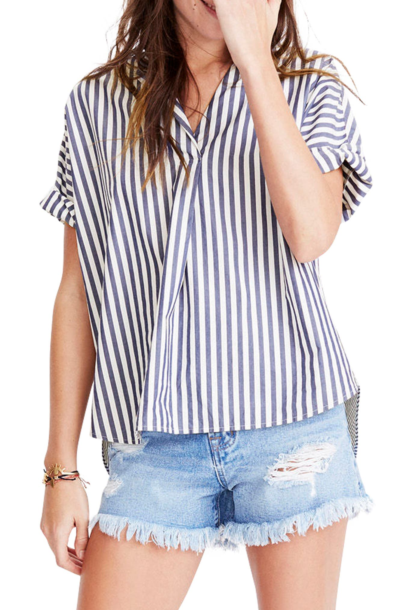 Alternate Image 1 Selected - Madewell Stripe Courier Shirt