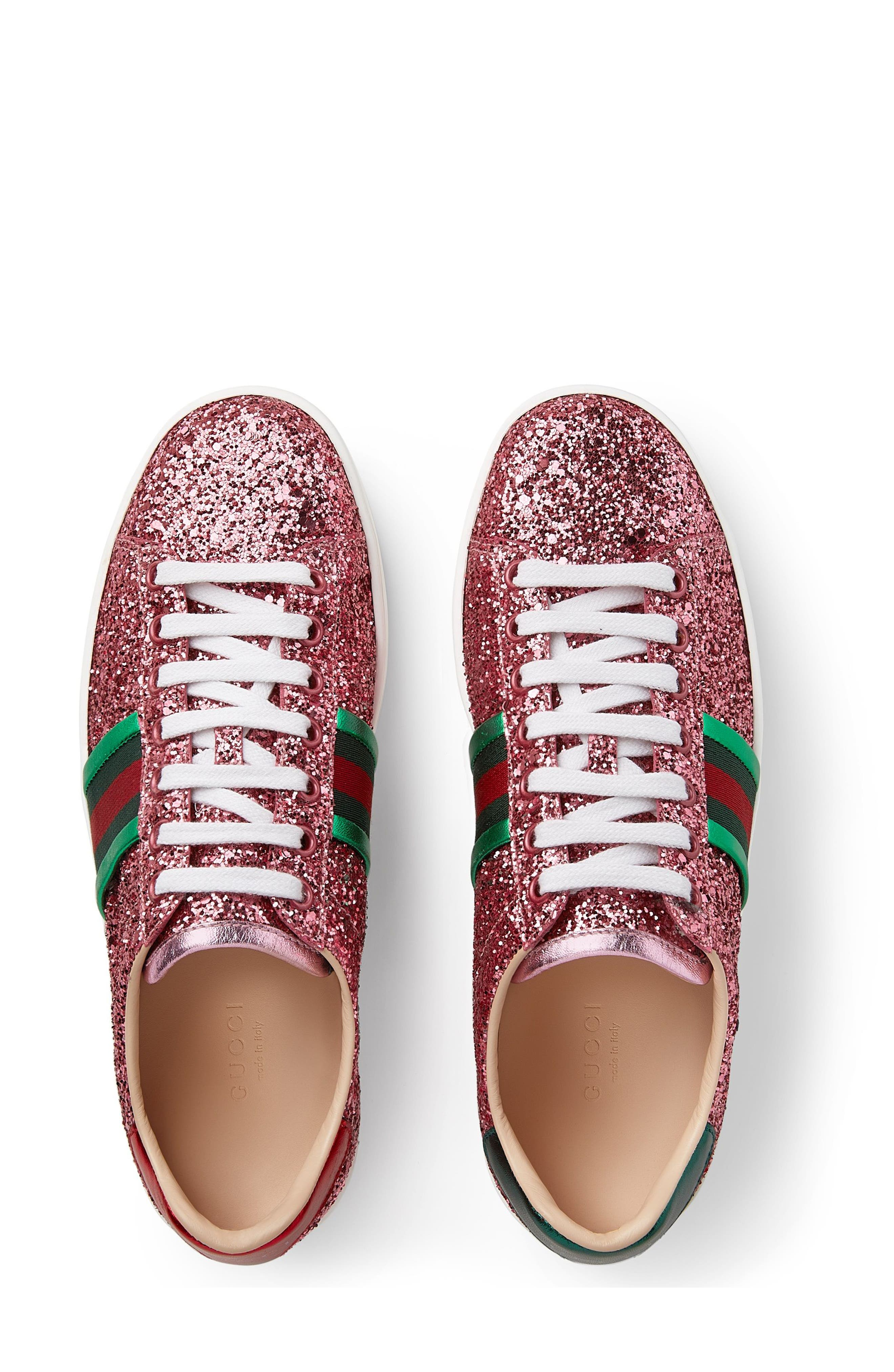 Alternate Image 3  - Gucci New Ace Glitter Sneaker (Women)