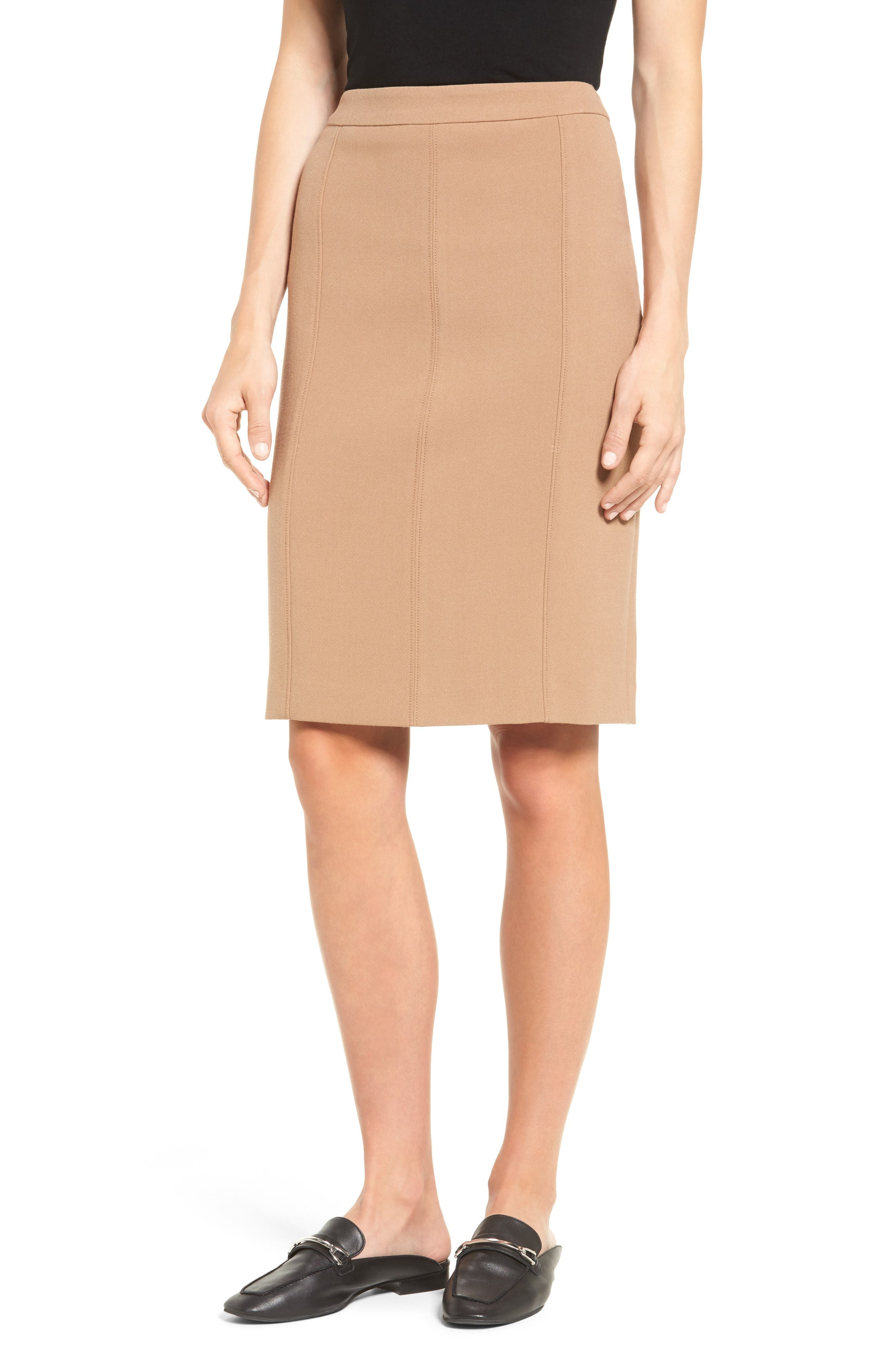 Halogen® Seamed Pencil Skirt (Regular & Petite)