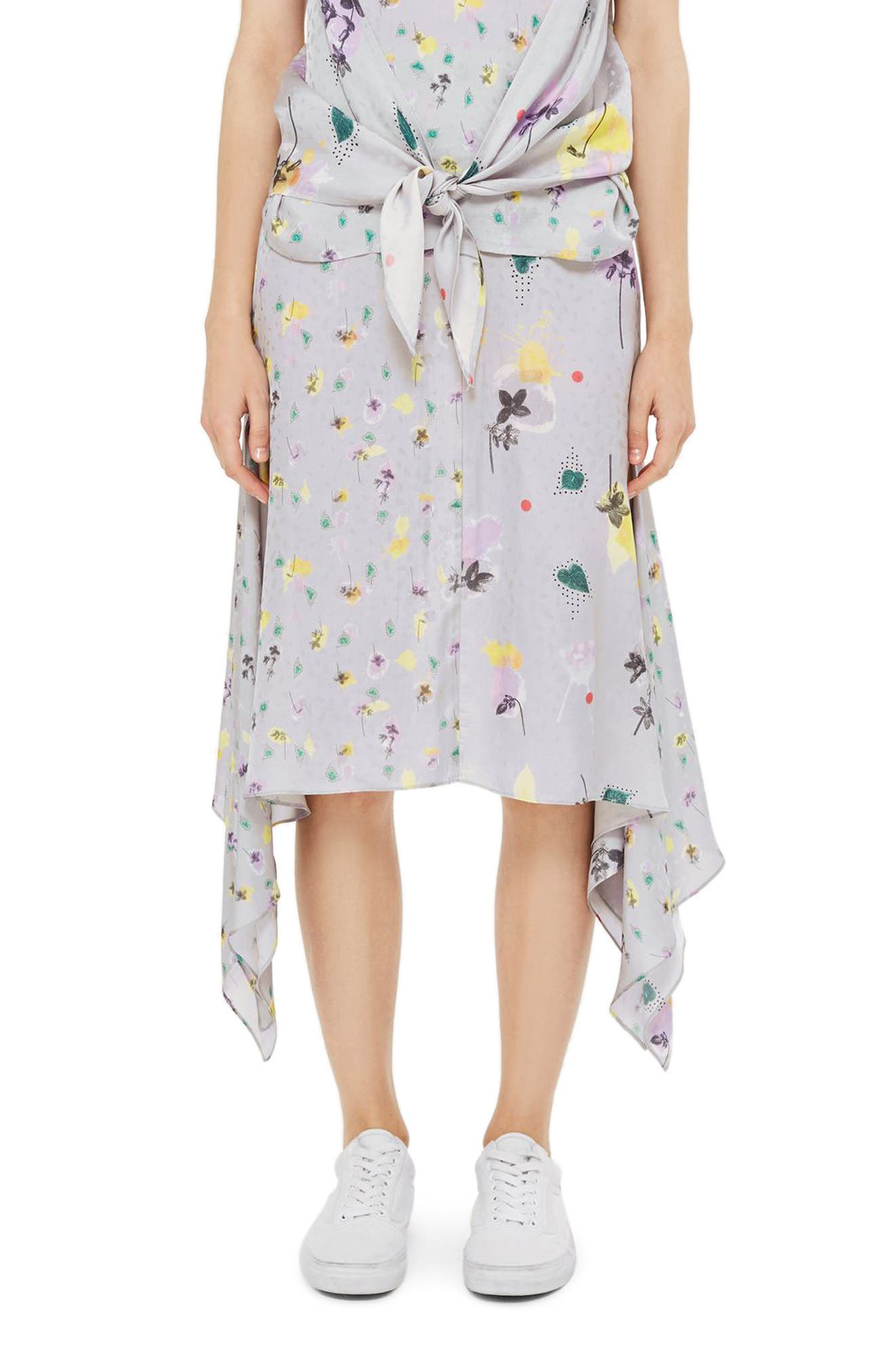 Topshop Boutique Mix Floral Skirt