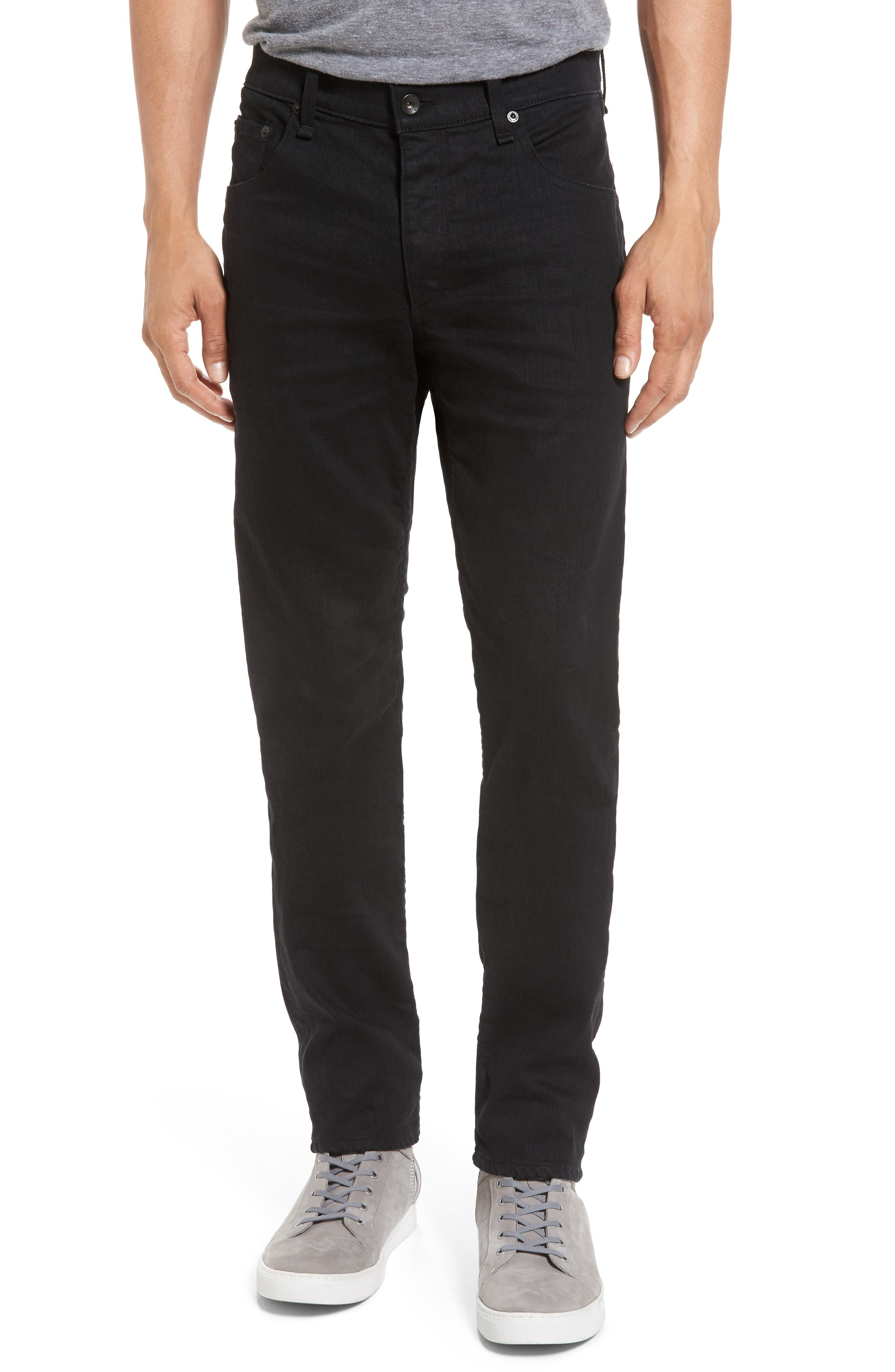 rag & bone Fit 2 Slim Fit Jeans (Black 3D)