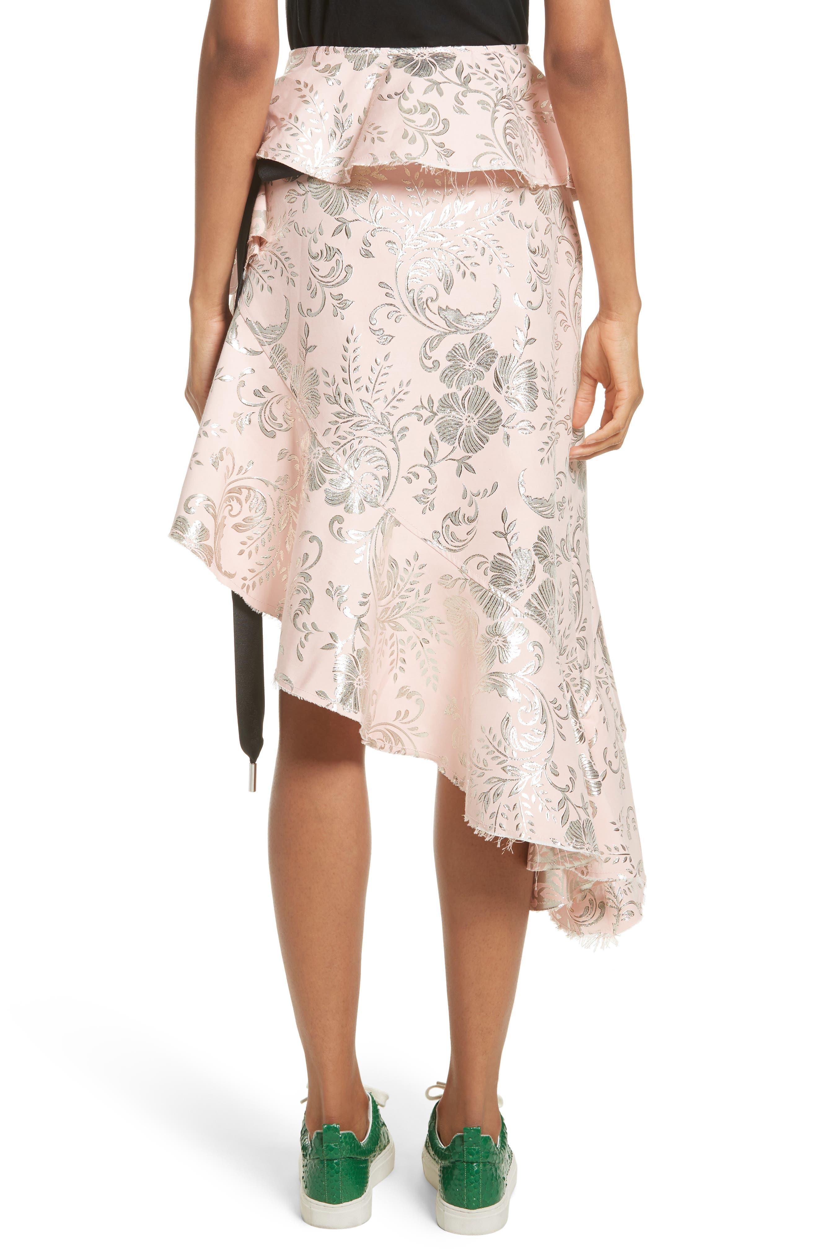 Alternate Image 2  - Marques'Almeida Asymmetrical Frilled Brocade Skirt