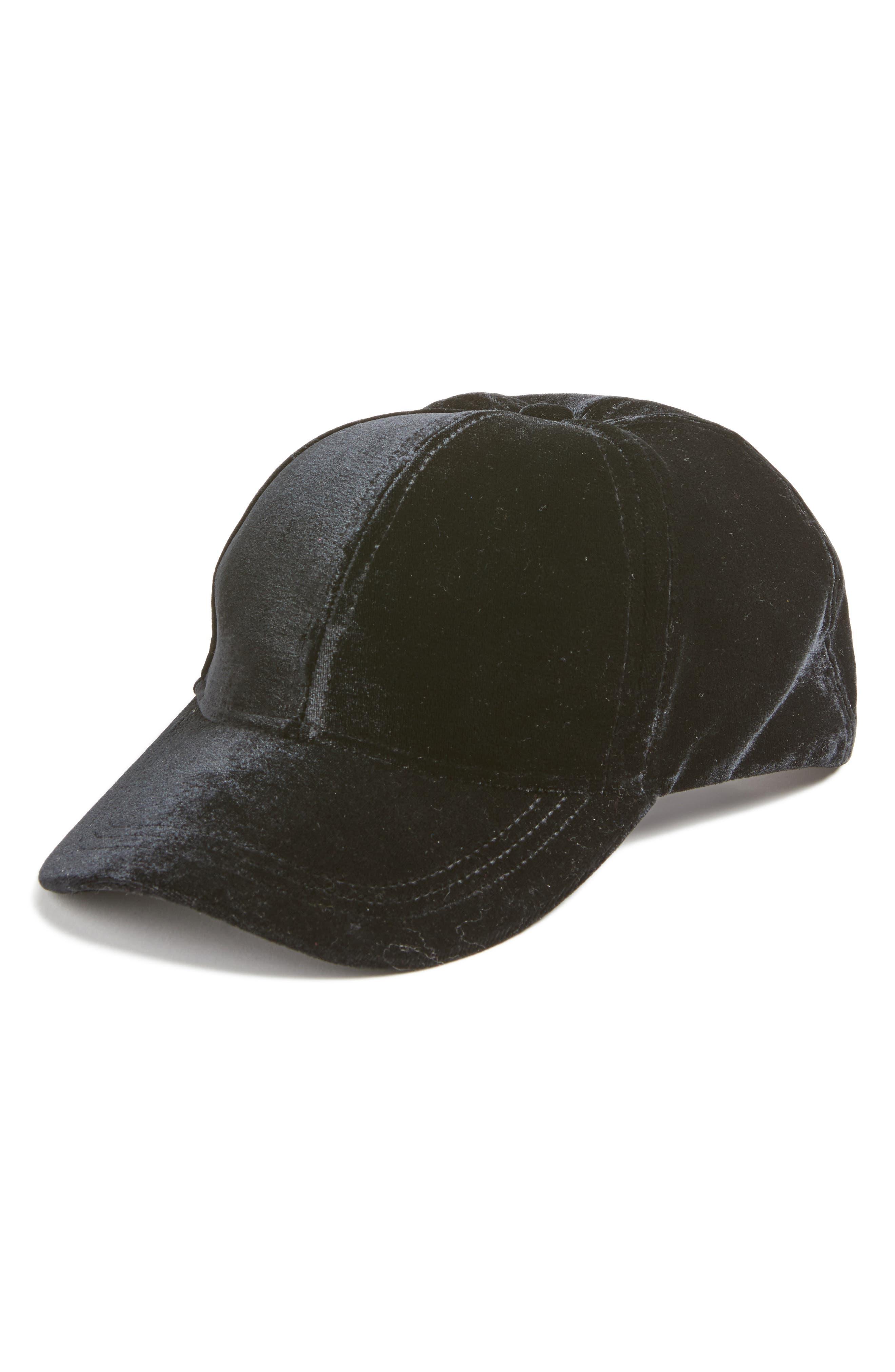 Hinge Velvet Baseball Cap
