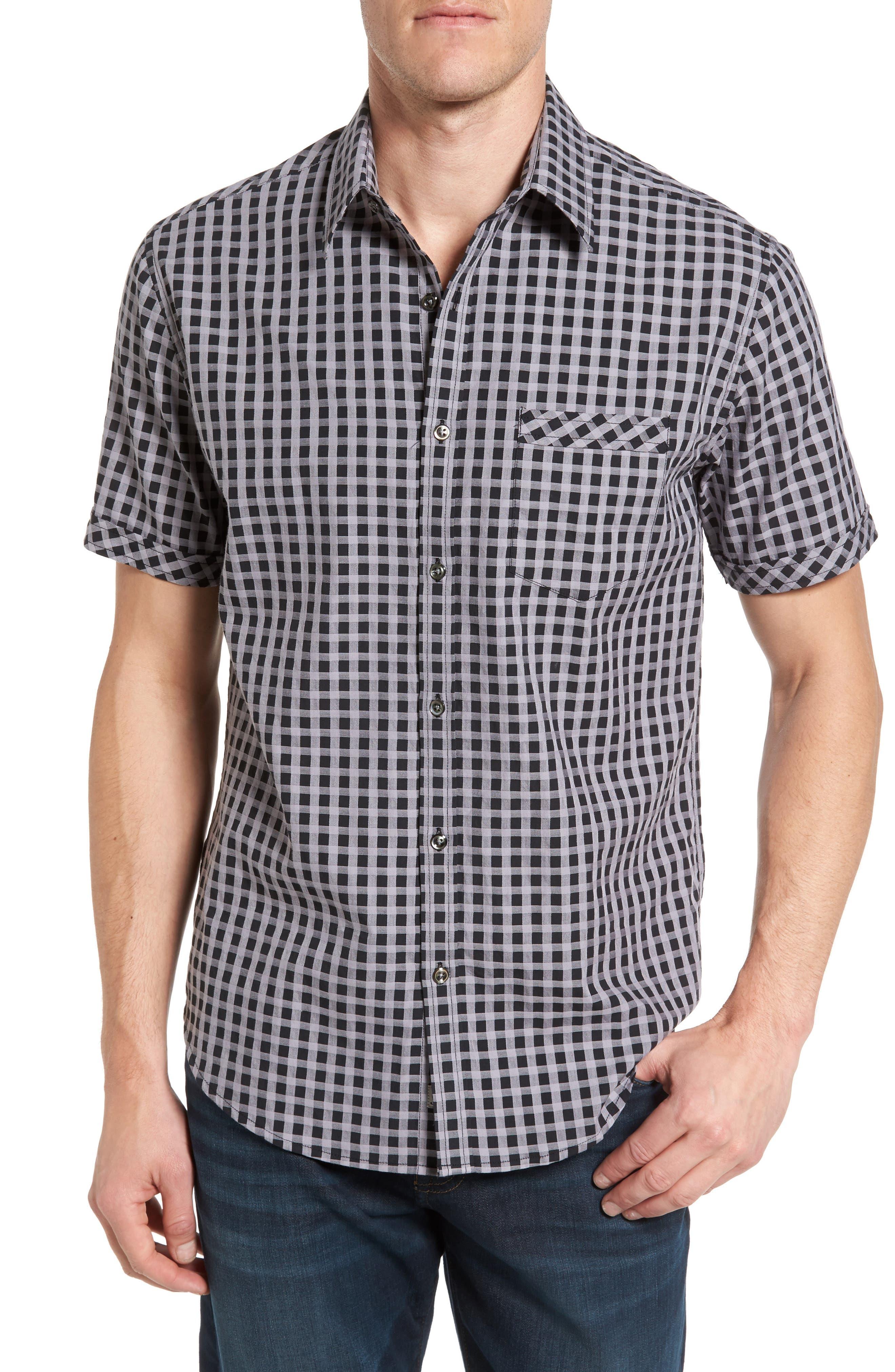 James Campbell Moses Regular Fit Short Sleeve Sport Shirt