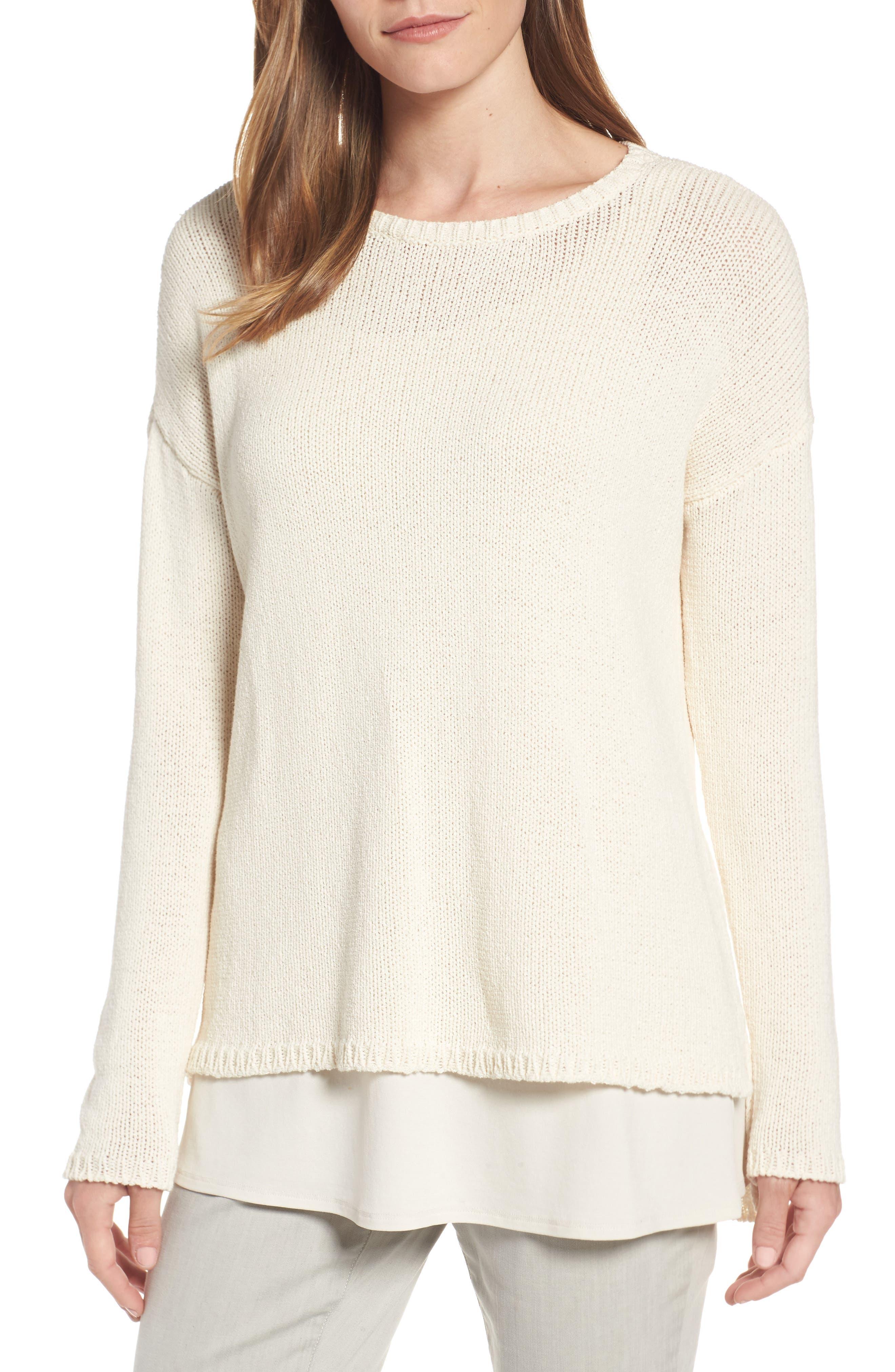 Eileen Fisher Cotton Blend Sweater