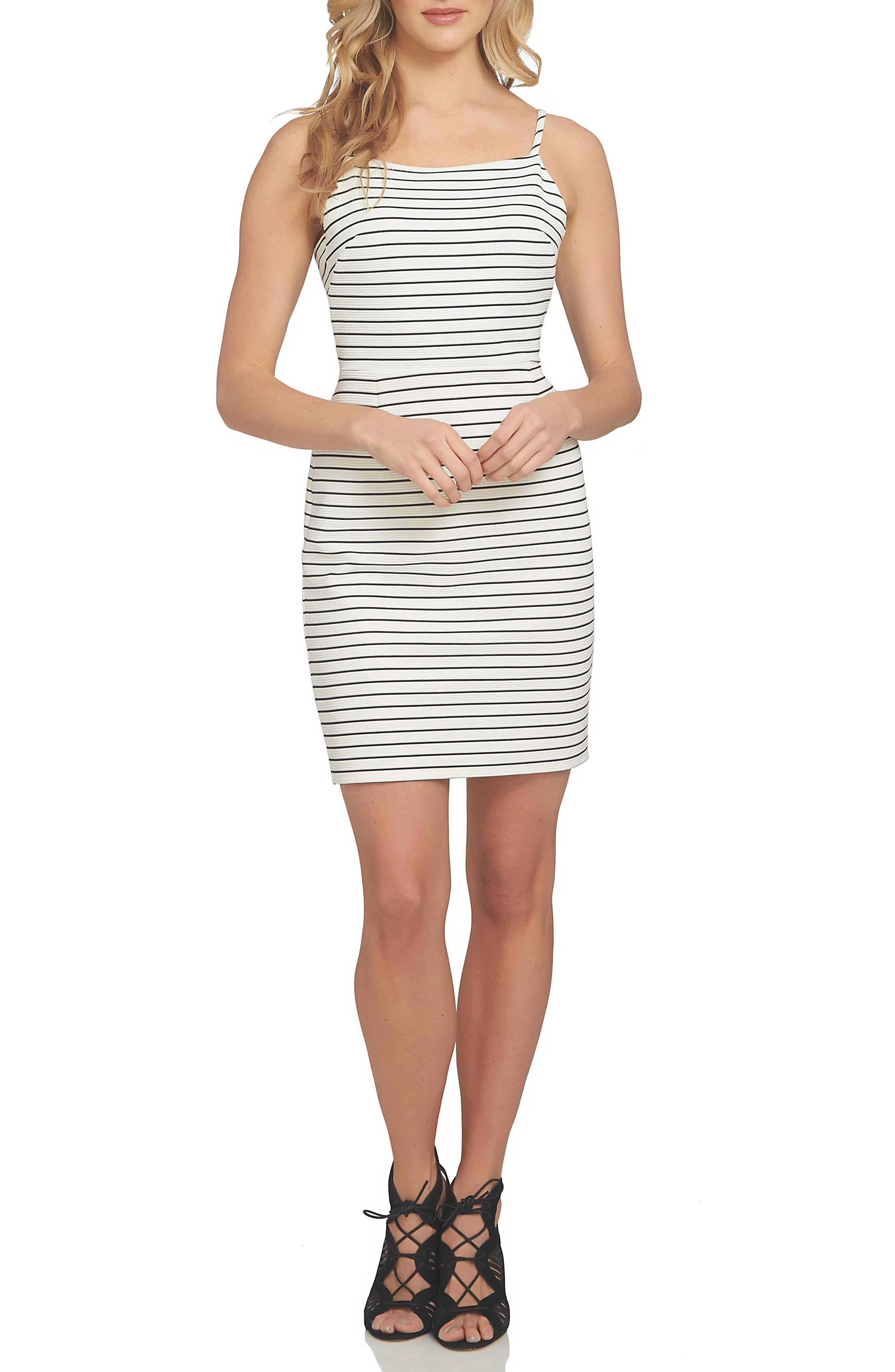1.STATE Stripe Body-Con Dress