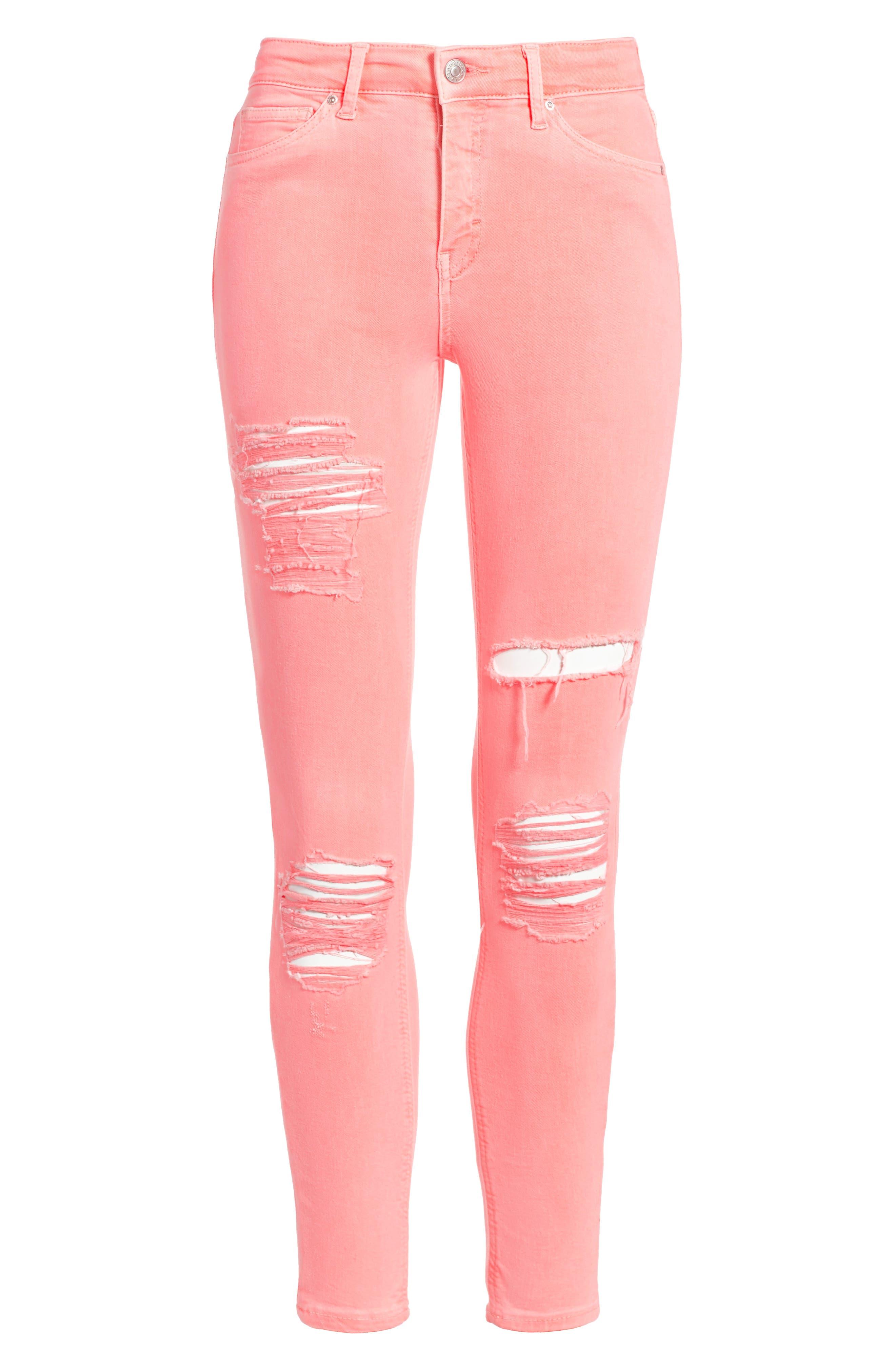 Alternate Image 1 Selected - Topshop Jamie Super Rip Skinny Jeans