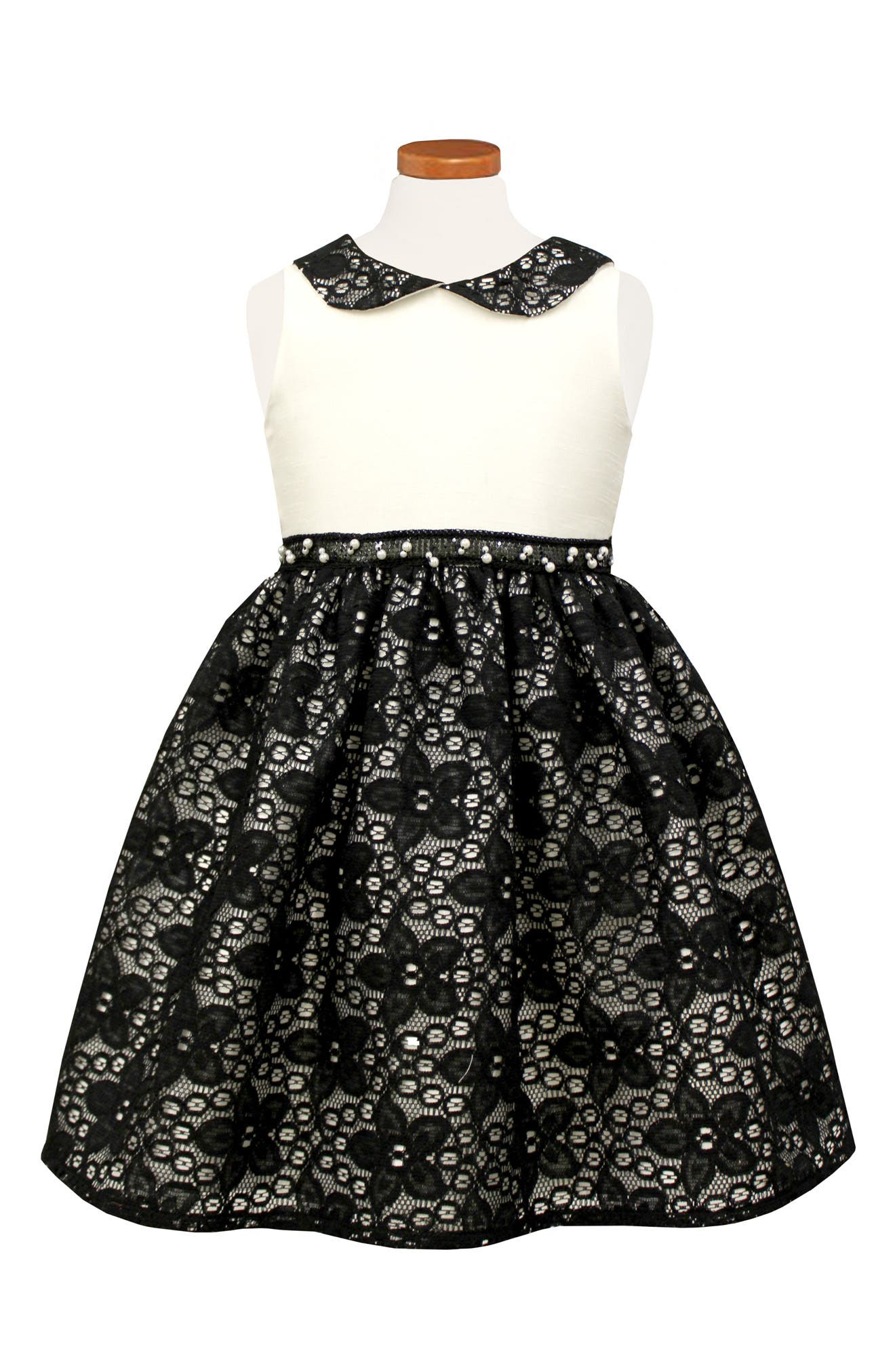 Sorbet Peter Pan Collar Party Dress (Toddler Girls & Little Girls)