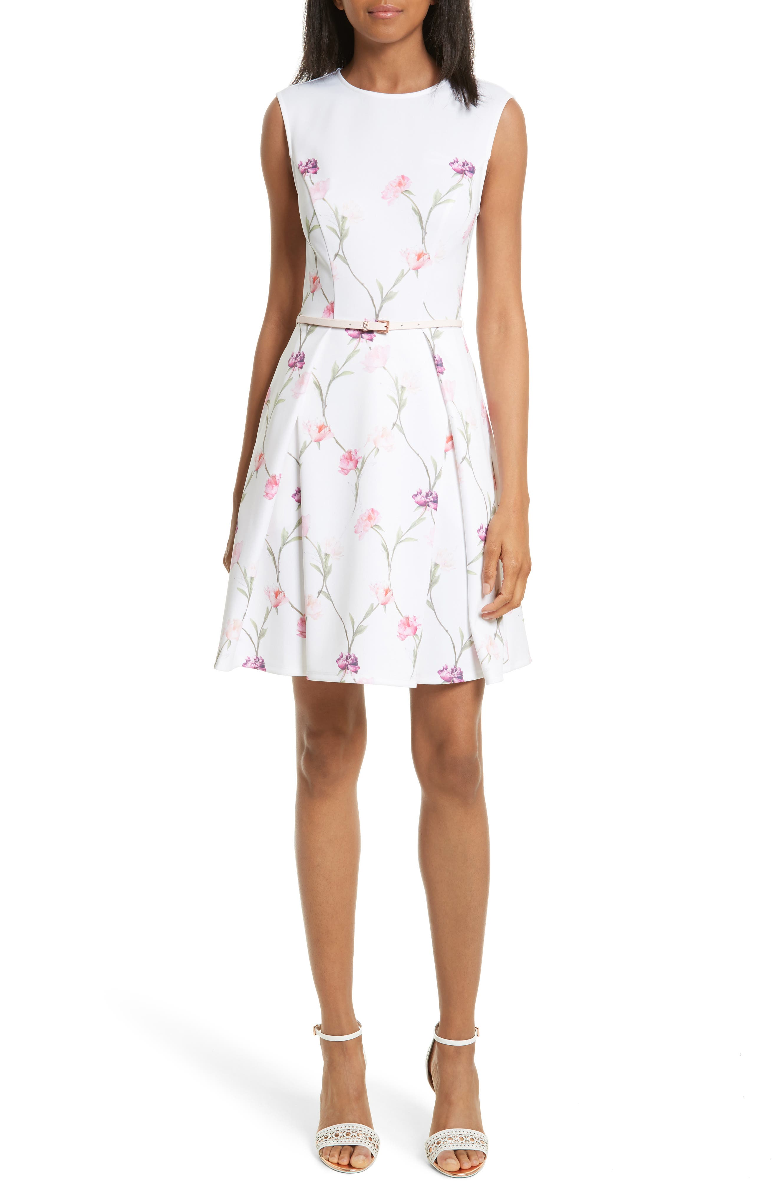 Ted Baker London Ahlanna Sketchbook Skater Dress