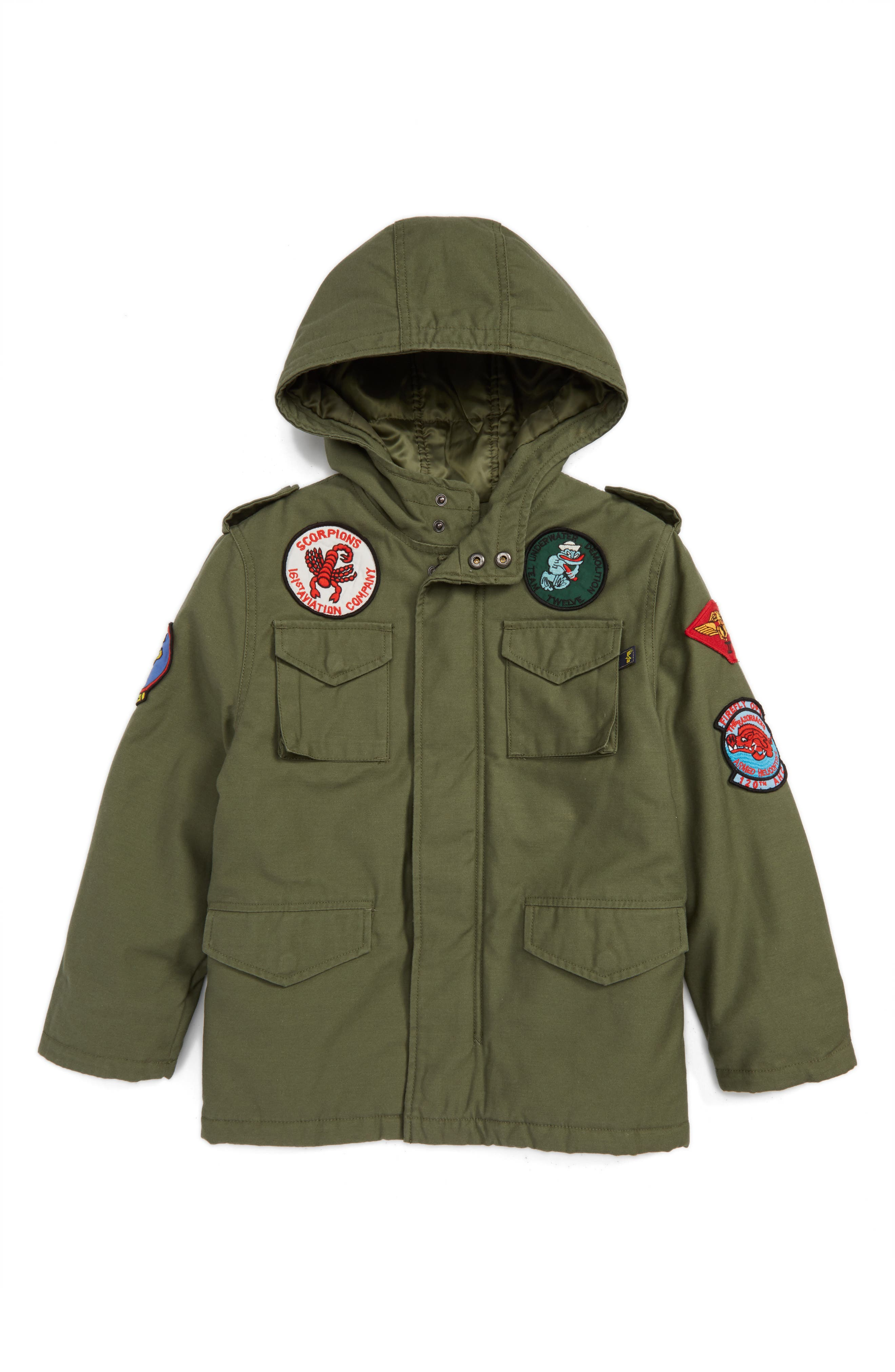 Alpha Industries M-65 Noah Field Jacket (Toddler Boys, Little Boys & Big Boys)