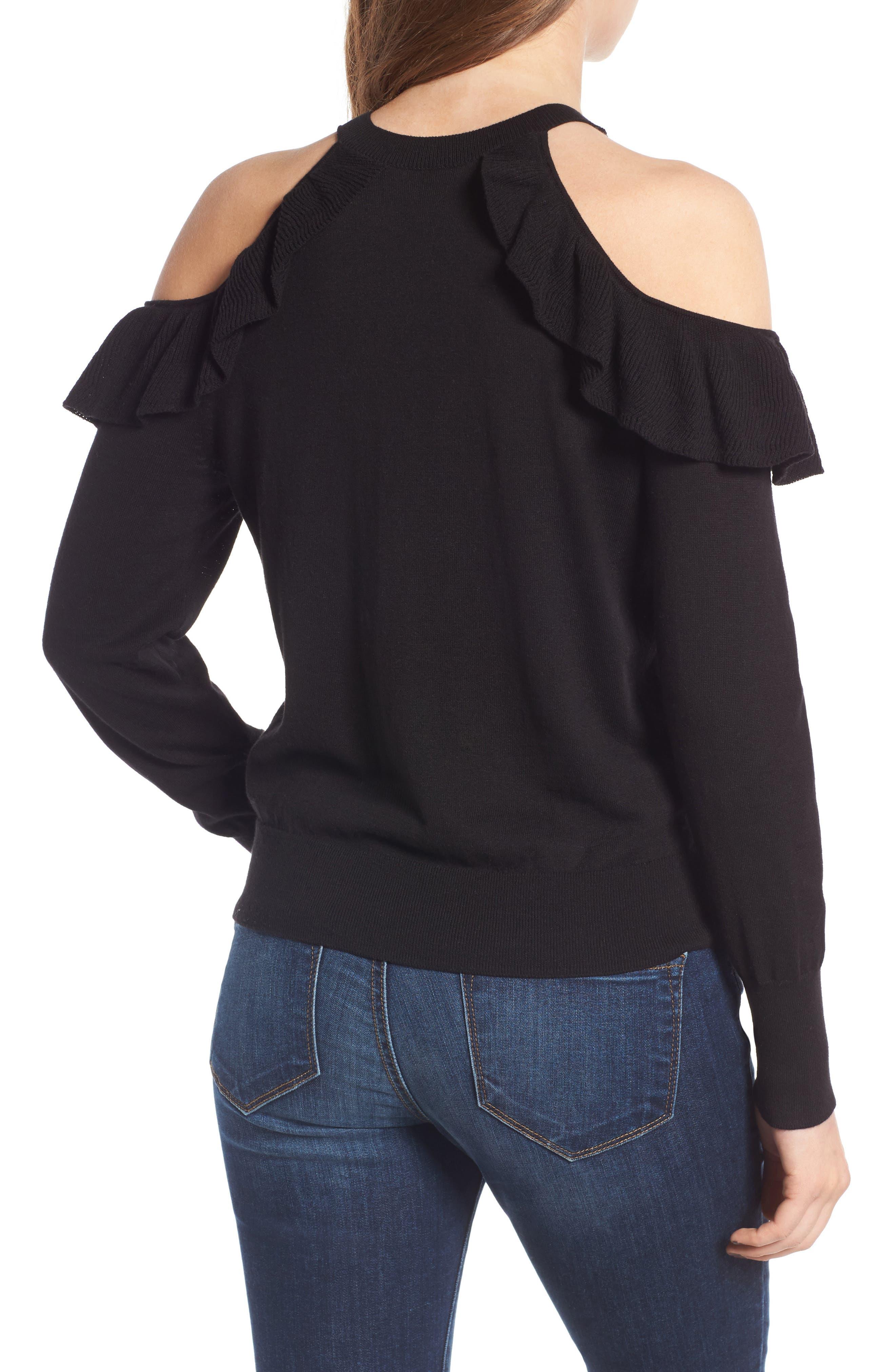Alternate Image 2  - BP. Ruffle Cold Shoulder Pullover