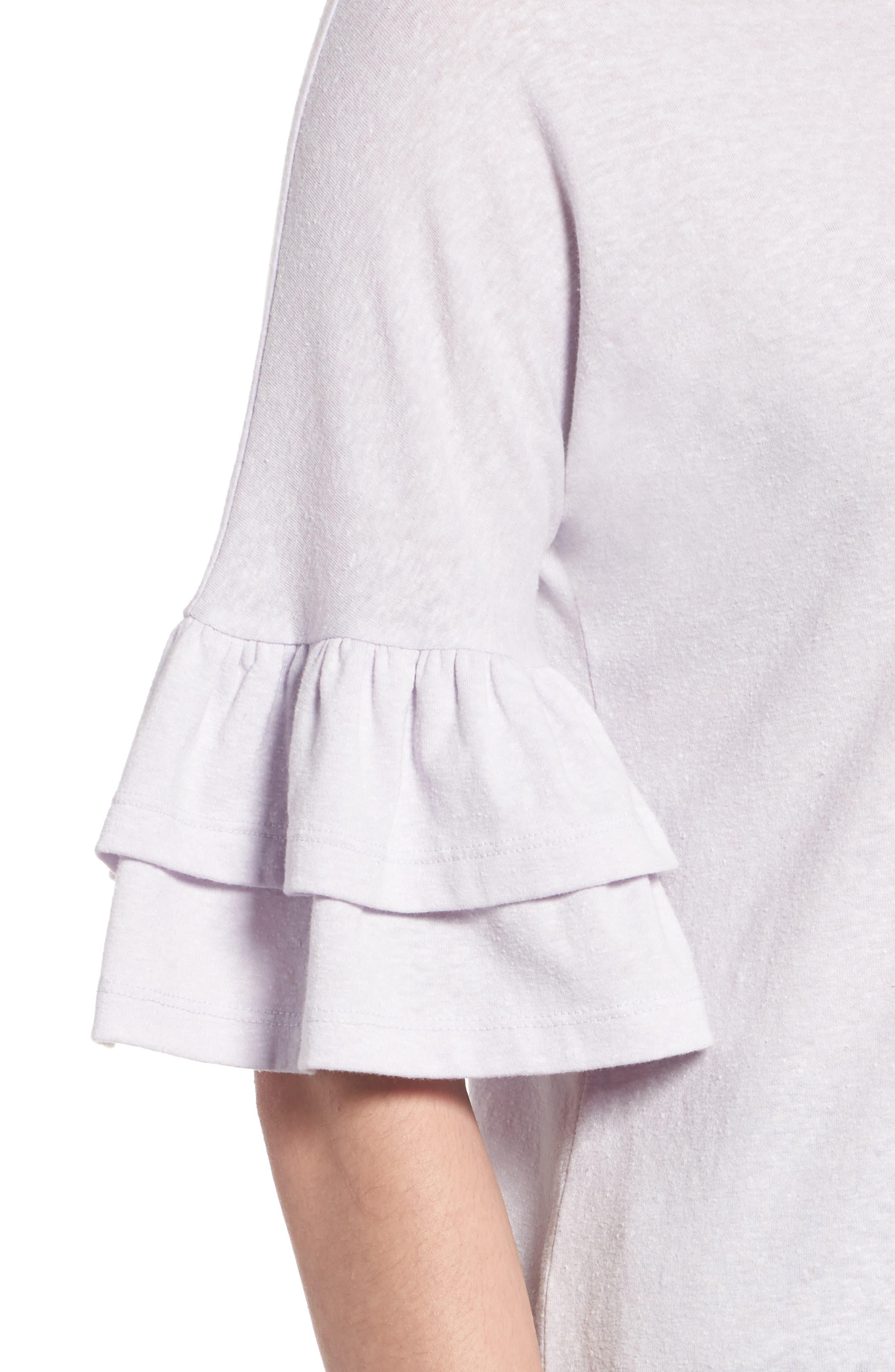 Alternate Image 4  - Caslon® Tiered Bell Sleeve Tee (Regular & Petite)