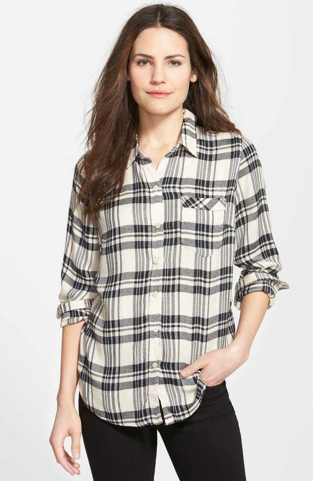 Alternate Image 1 Selected - Lucky Brand Flannel Boyfriend Shirt