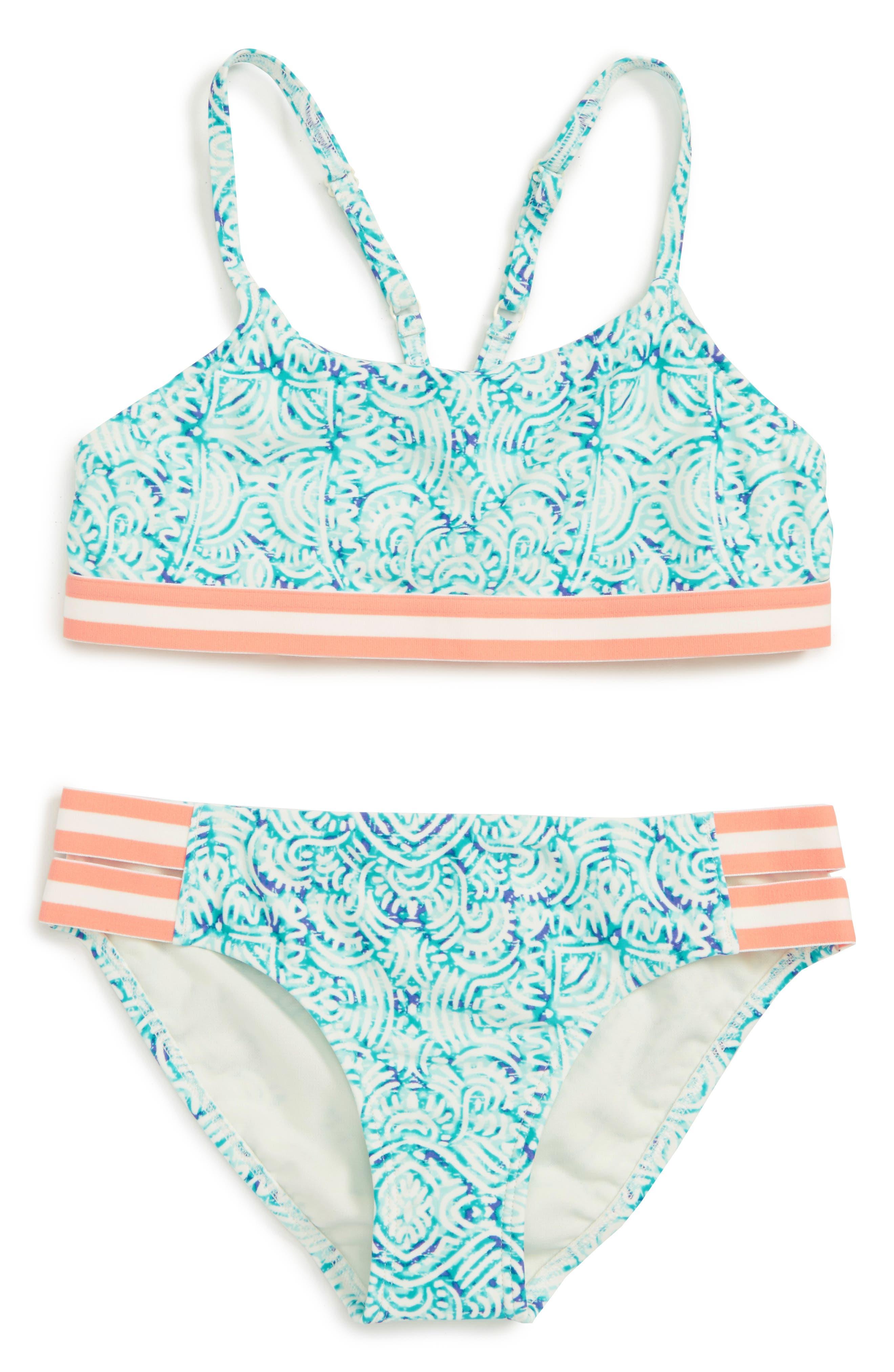 Roxy Caribbean Days Two-Piece Halter Swimsuit (Big Girls)